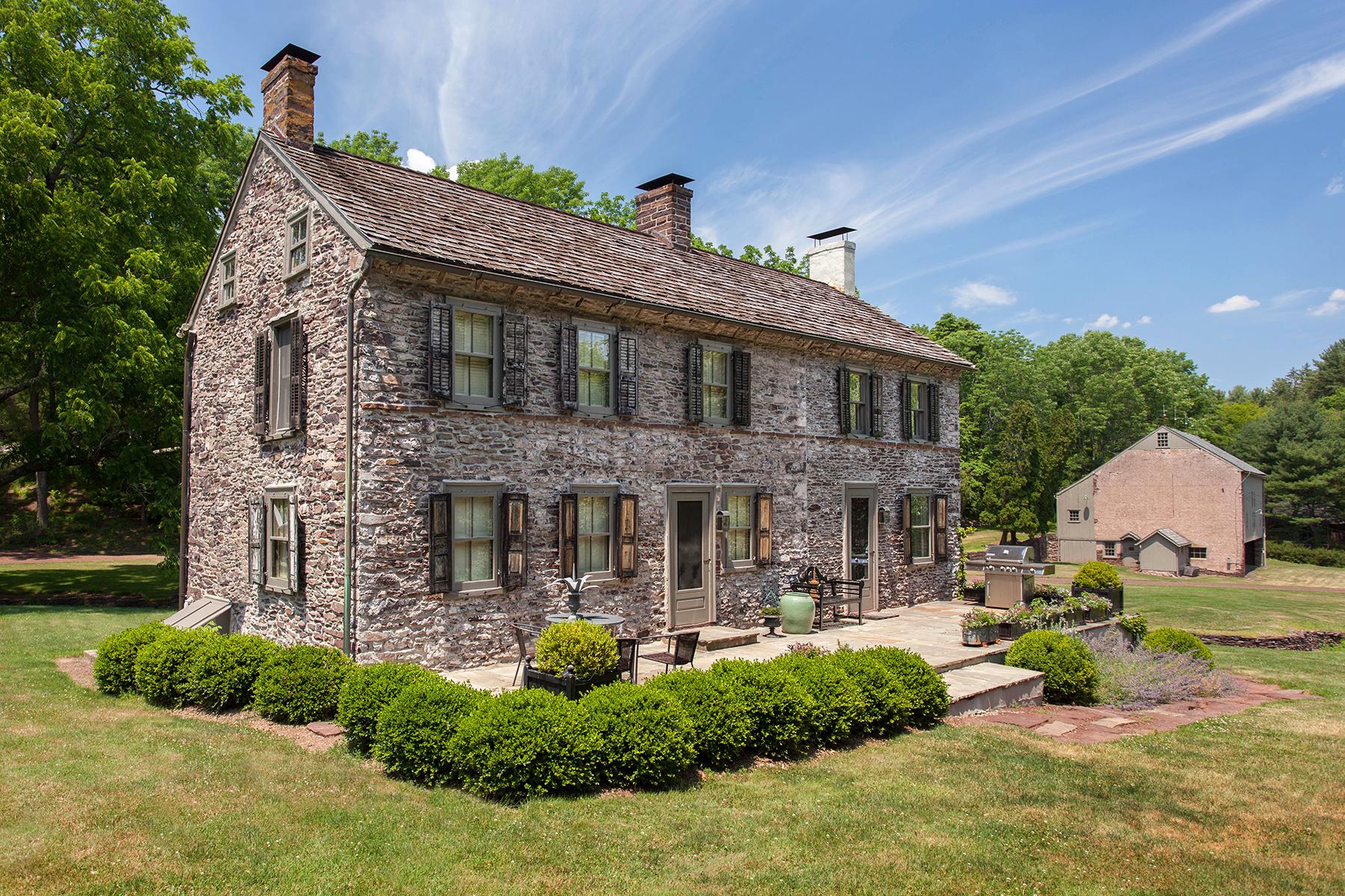 Частный односемейный дом для того Продажа на Erwinna, PA 44 Permanent School Rd Erwinna, 18972 Соединенные Штаты