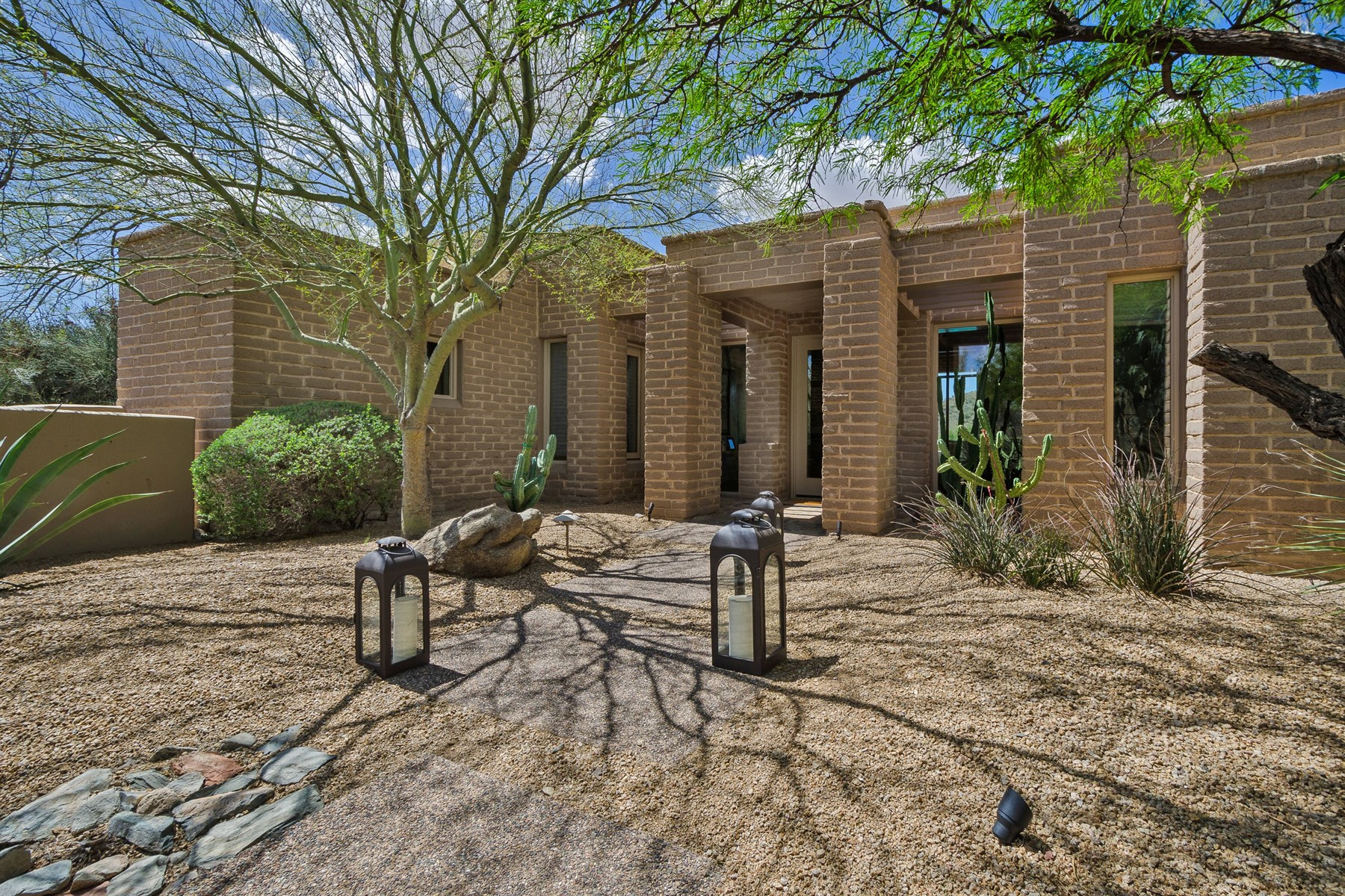 Single Family Home for Sale at Authentic Adobe home with spectacular mountain views 8400 E Dixileta Dr #110 Scottsdale, Arizona, 85266 United States