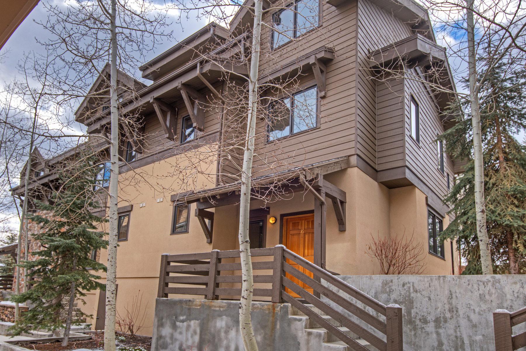 联栋屋 为 销售 在 Three Bedroom Townhome in Old Town Park City 670 Deer Valley Loop #16 Park City, 犹他州 84060 美国