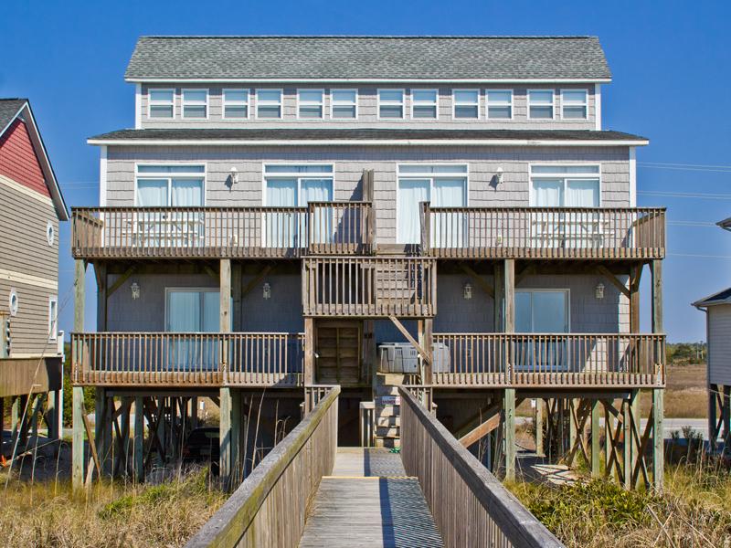 Duplex for Sale at Splendid Oceanfront Retreat on Topsail Island 3874 & 3876 Island Drive N Topsail Beach, North Carolina 28460 United States