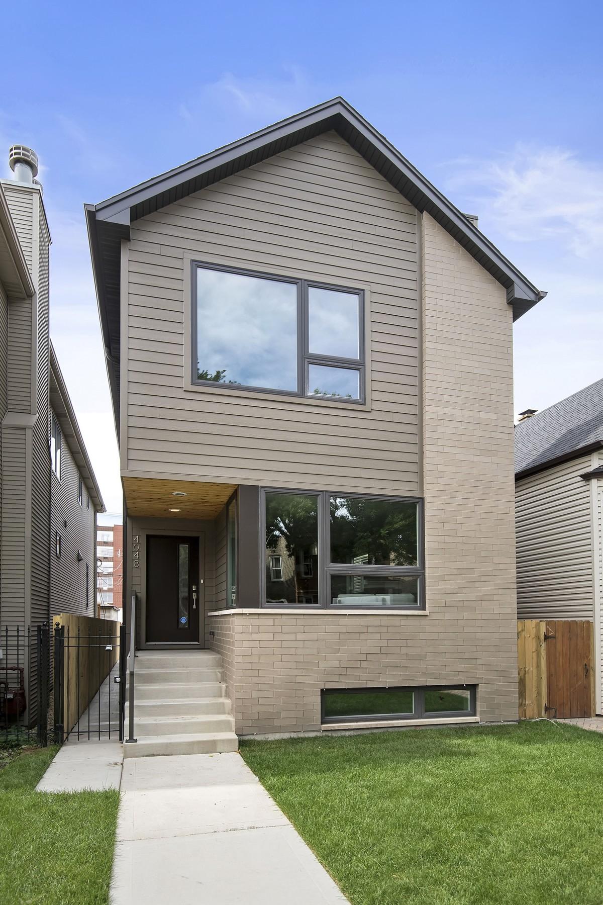 Casa Unifamiliar por un Venta en Contemporary New Construction Home 3851 N Albany Avenue Irving Park, Chicago, Illinois 60618 Estados Unidos