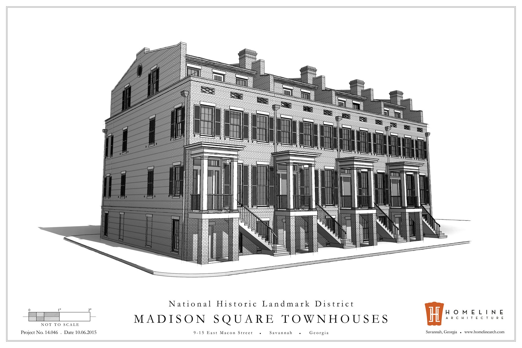 Moradia para Venda às Madison Square Townhomes 15 East Macon Street Savannah, Geórgia 31401 Estados Unidos