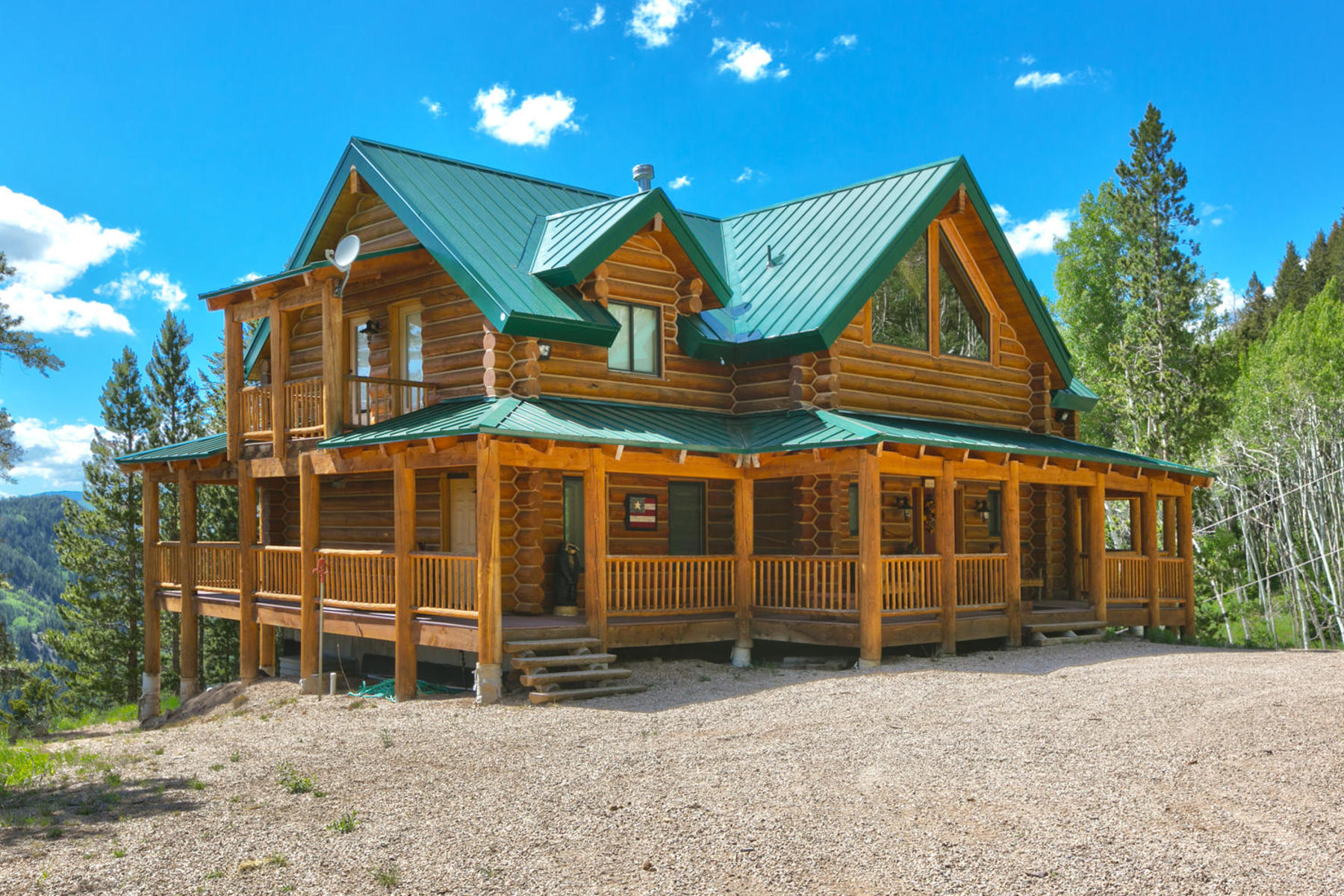 Property For Sale at Stunning newer log home on 20 acres at top of Thousand Peaks Ranch