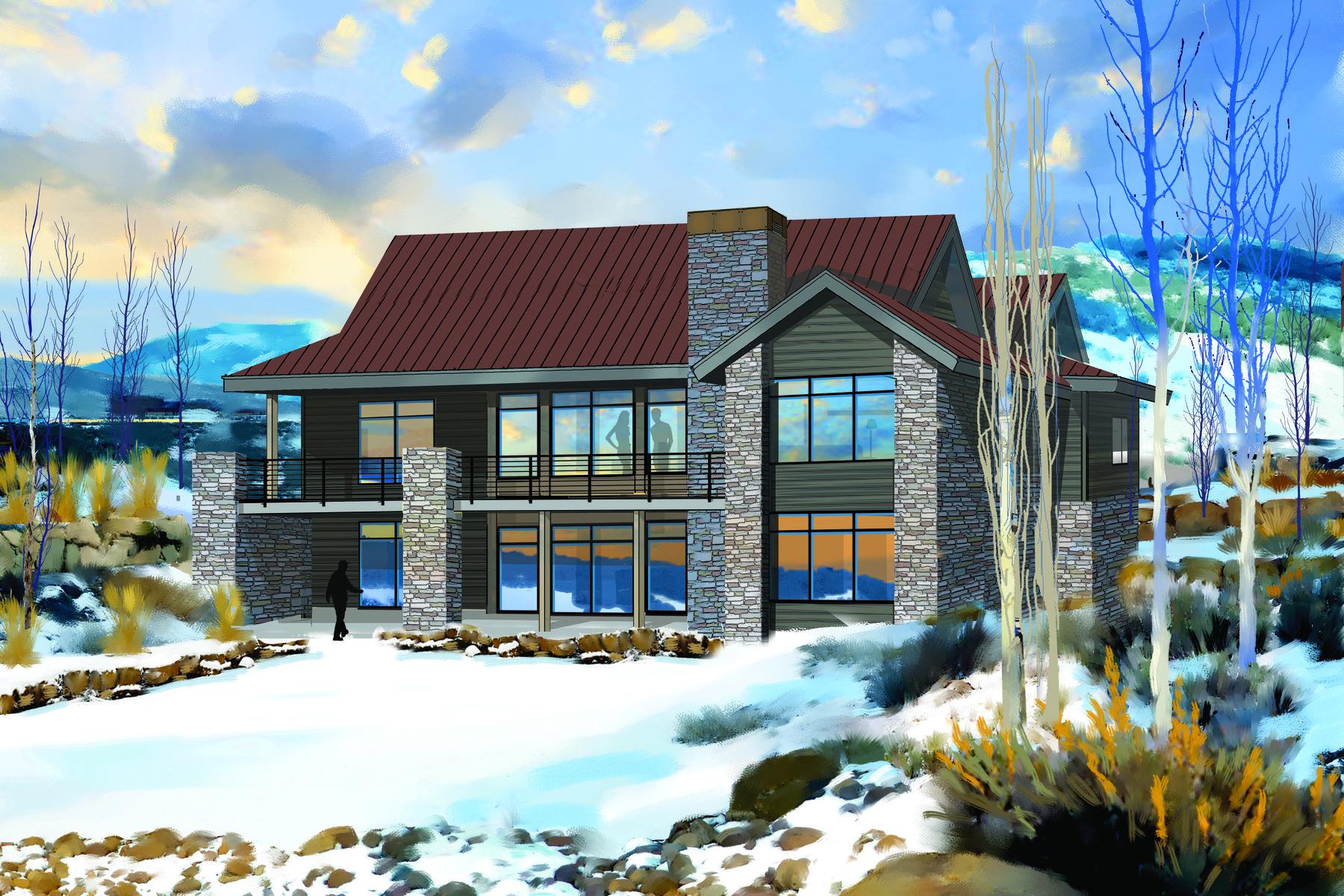 Частный односемейный дом для того Продажа на New Nicklaus Golf Cabin Promontory 6441 Golden Bear Loop West Lots #1-4 Park City, Юта, 84098 Соединенные Штаты