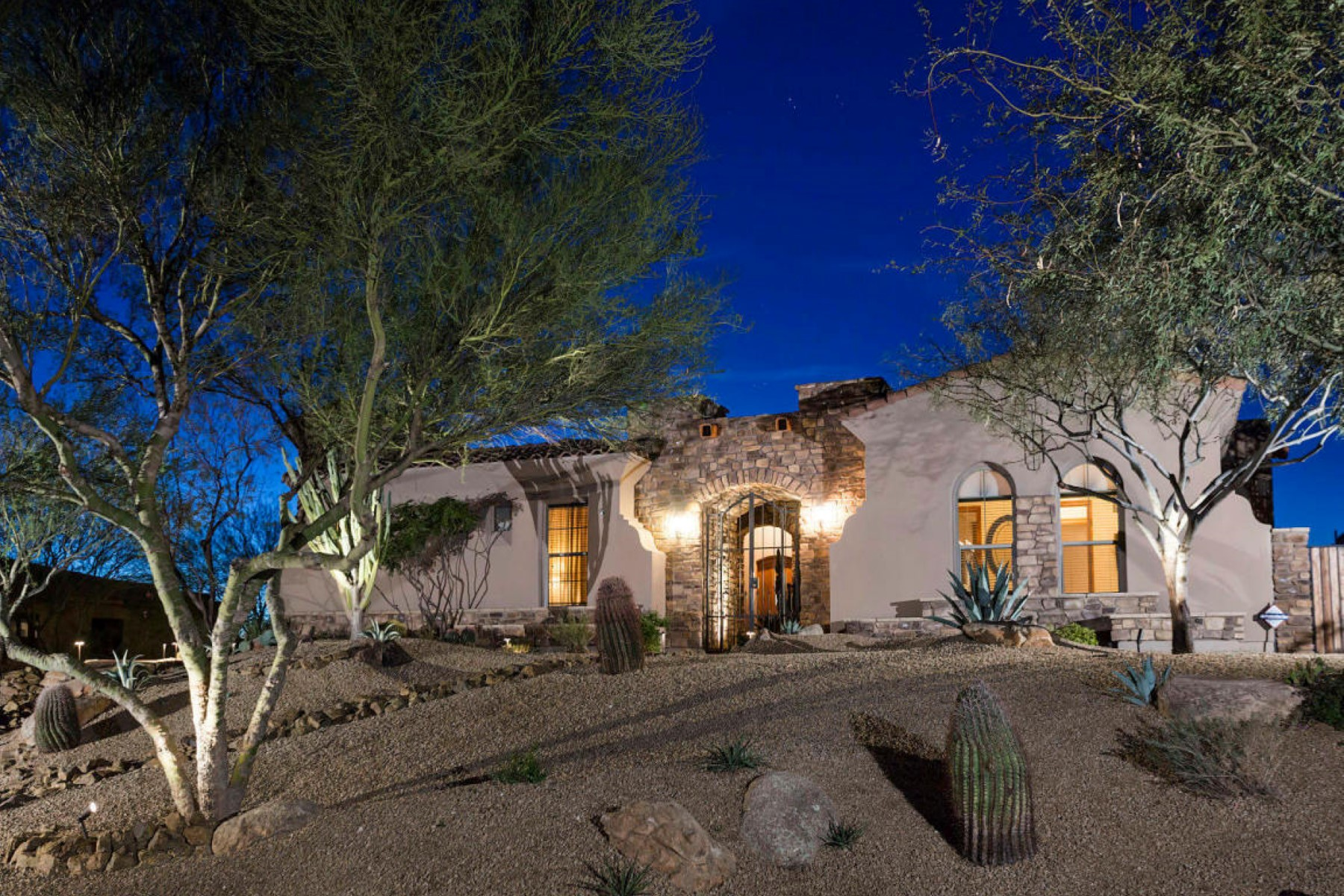 Single Family Home for Sale at Gorgeous Custom home with sweeping mountain and city light views 36530 N BOULDER VIEW DR Scottsdale, Arizona 85262 United States