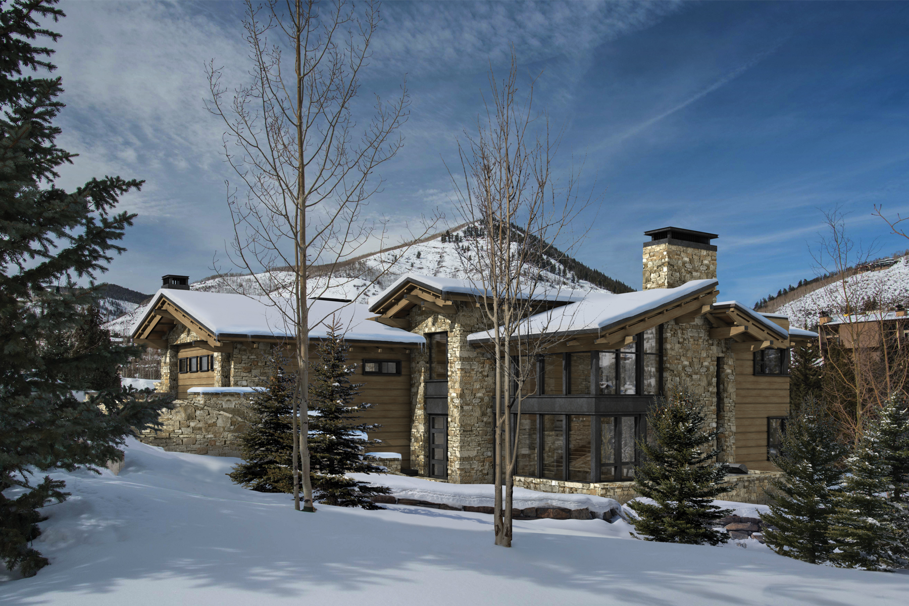 Maison unifamiliale pour l Vente à New Construction on Forest Road 645 Forest Road Vail, Colorado, 81657 États-Unis