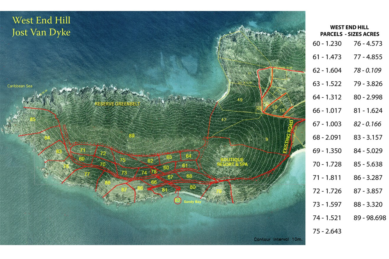 Land for Sale at West End Point West End Hill, Jost Van Dyke British Virgin Islands