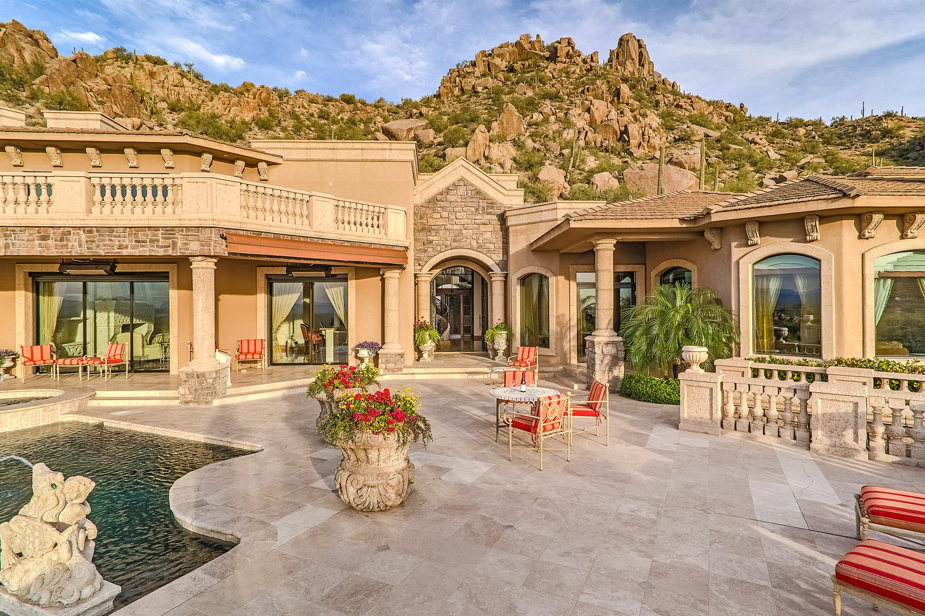 Single Family Home for Sale at Glorious views emanate from this hillside estate in Estancia 26905 N 98th Way Scottsdale, Arizona, 85262 United States