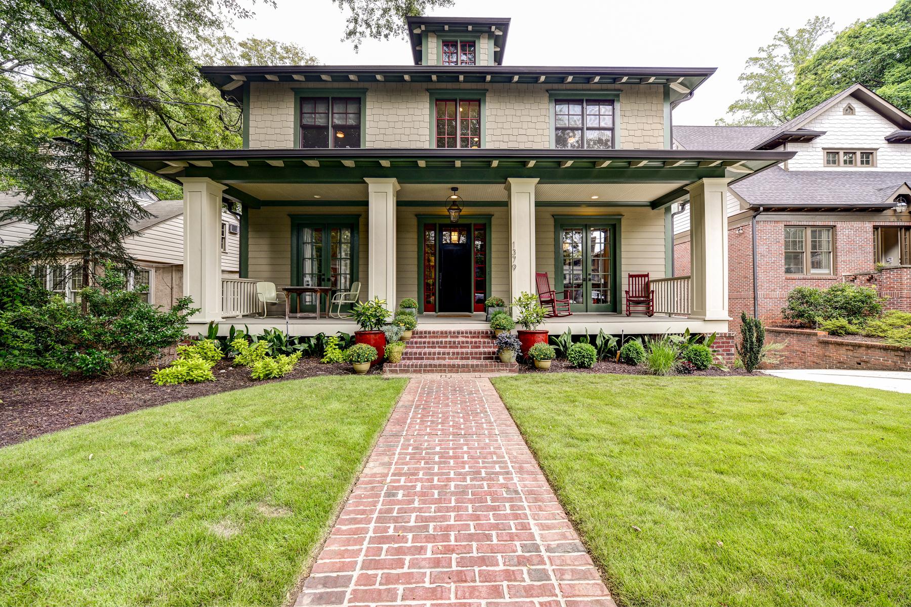 Nhà ở một gia đình vì Bán tại Wonderful Craftsman-Style Home 1379 Northview Avenue NE Morningside, Atlanta, Georgia 30306 Hoa Kỳ