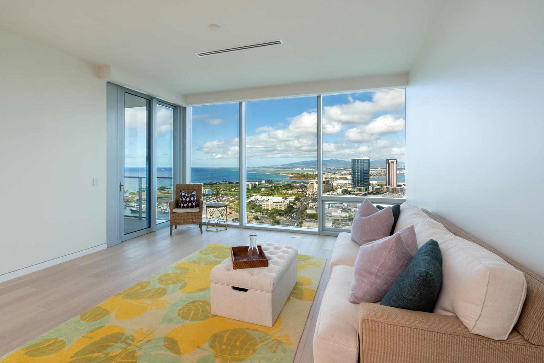Appartement en copropriété pour l Vente à Panoramic Ocean View Waiea Condo 1118 Ala Moana Blvd #2903 Kakaako, Honolulu, Hawaii, 96814 États-Unis