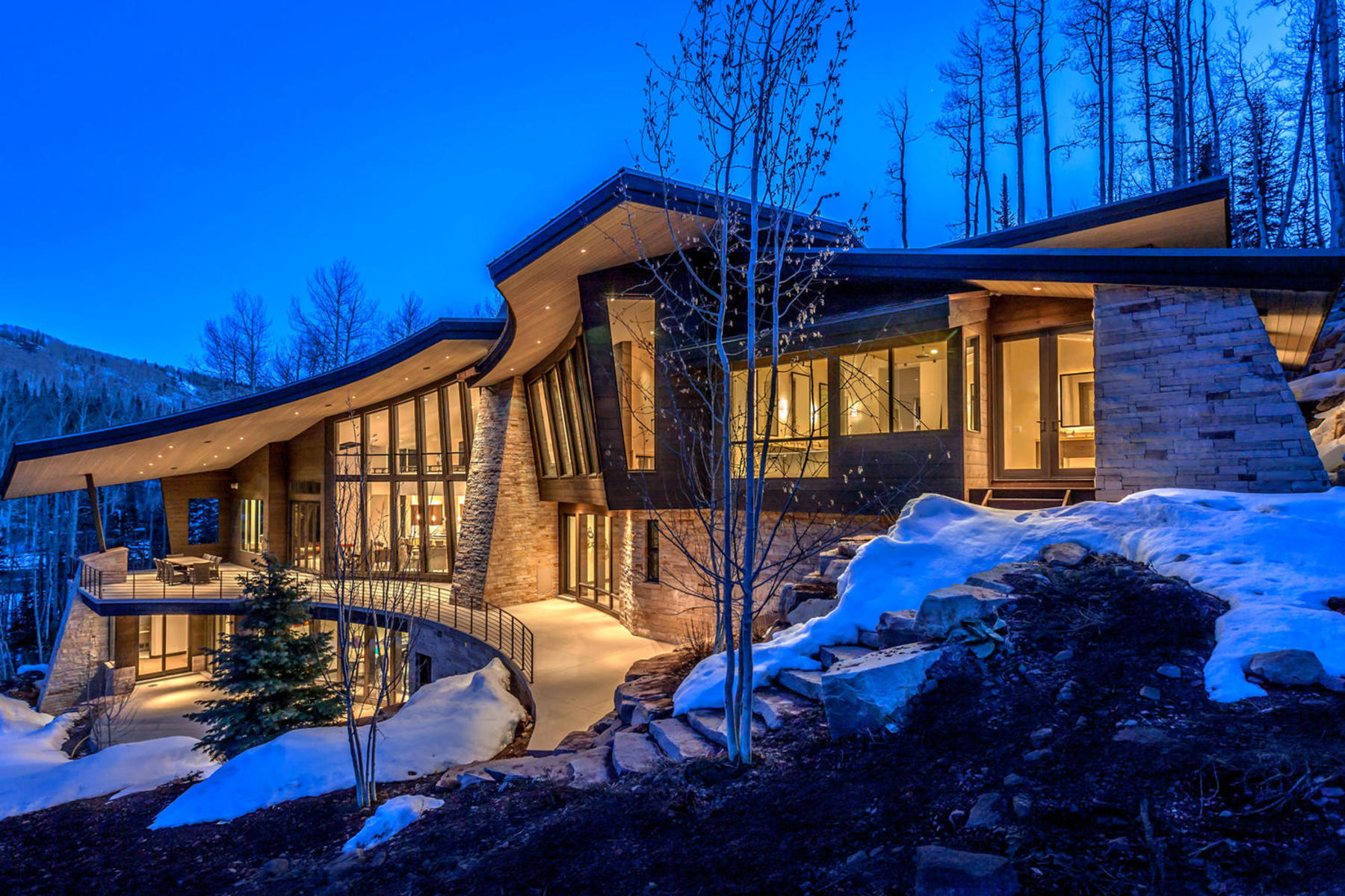 Single Family Home for Sale at Stunning Mountain Modern Ski Escape 184 White Pine Canyon Rd Park City, Utah 84060 United States