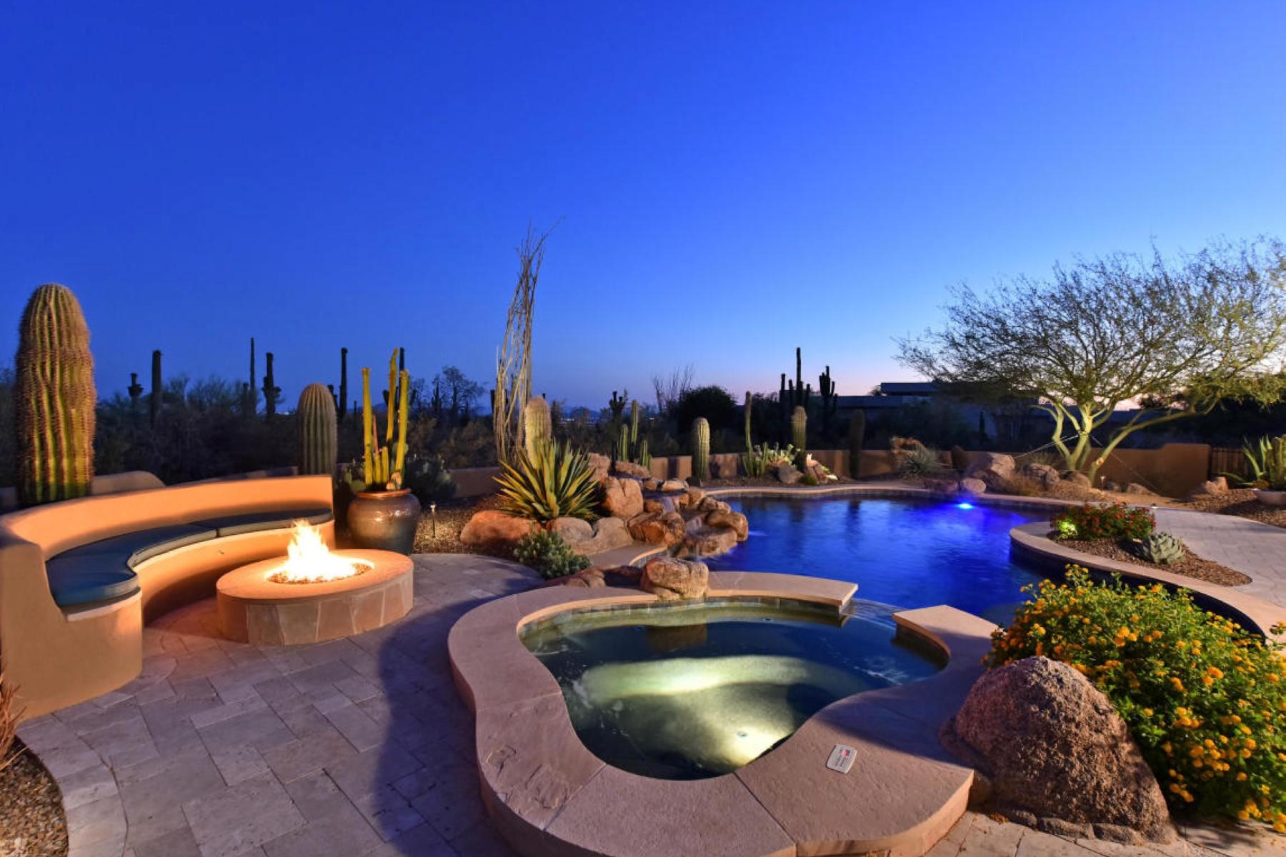 Vivienda unifamiliar por un Venta en Pinnacle Peak Vistas desert home 9607 E Via Montoya Dr Scottsdale, Arizona, 85255 Estados Unidos