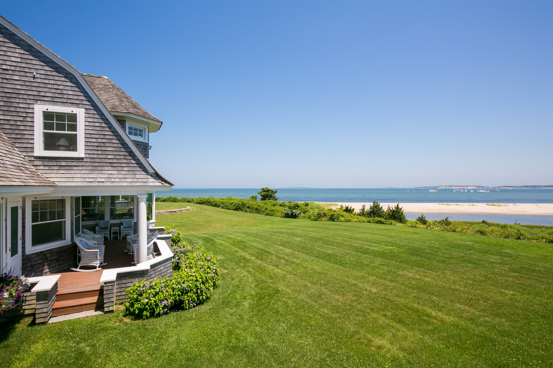Single Family Home for Sale at Edgartown Harbor Waterfront Estate 7 Starbuck Neck Road Edgartown, Massachusetts, 02539 United States