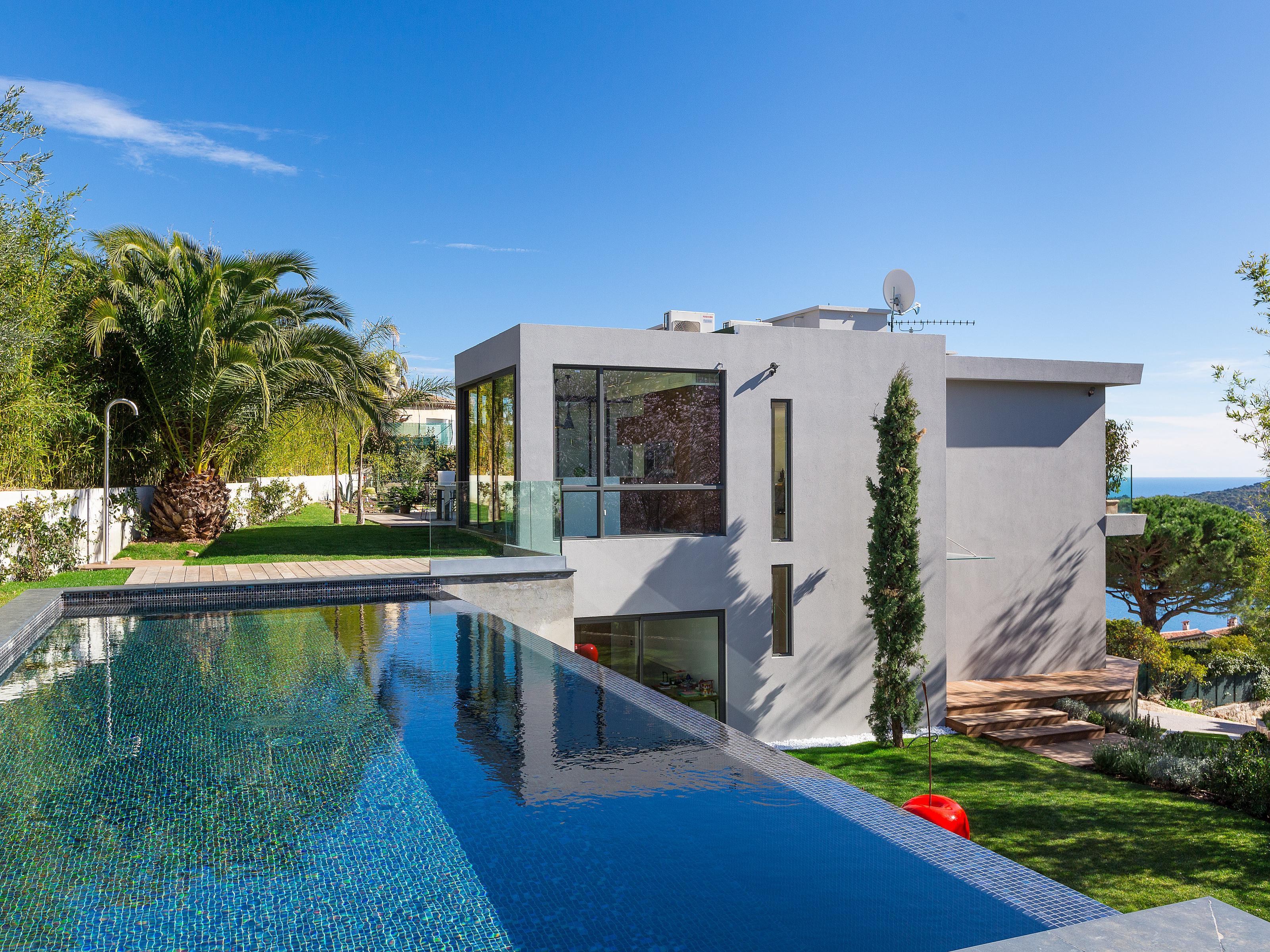 단독 가정 주택 용 매매 에 Superb contemporary project with panoramic sea view Villefranche Sur Mer, 프로벤스 앞ㄹ프스 코테 D'Azur 06230 프랑스