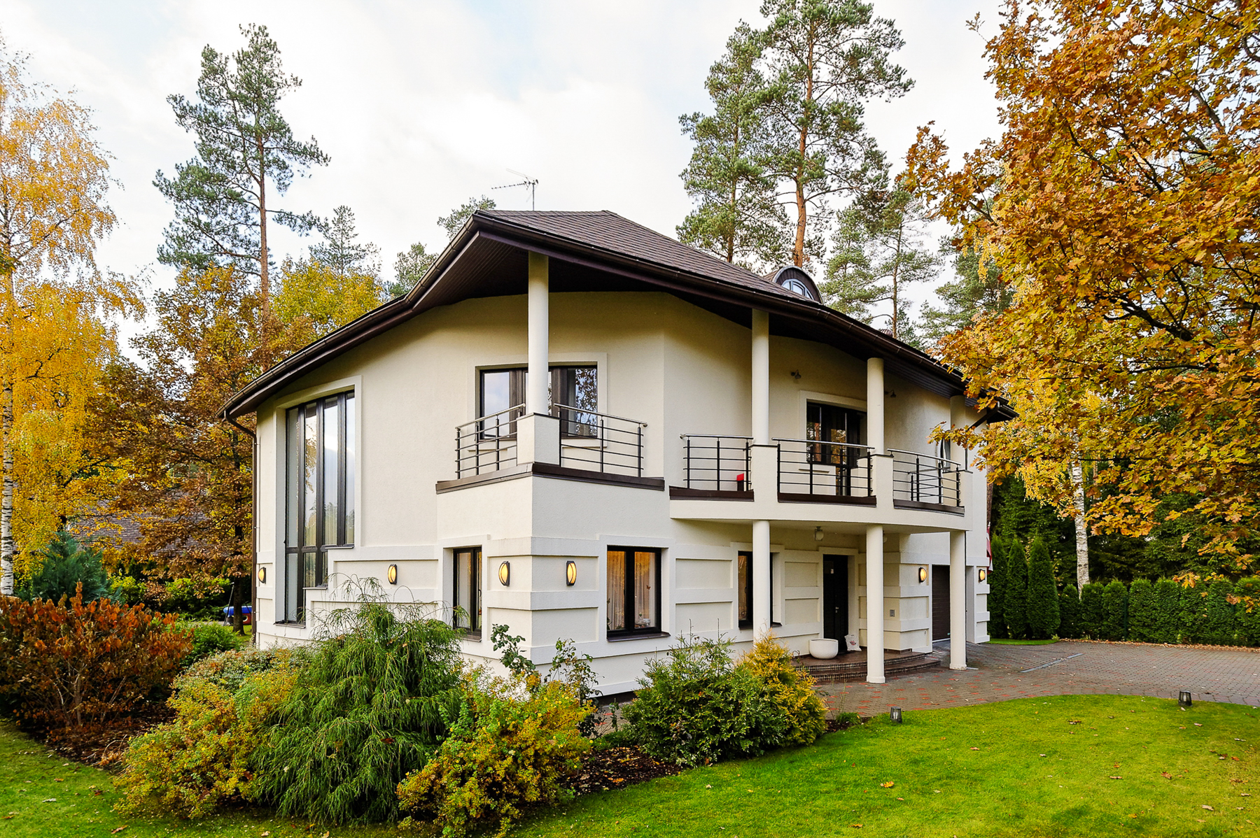 sales property at Modern private house in a guarded village Sunisii in Latvia