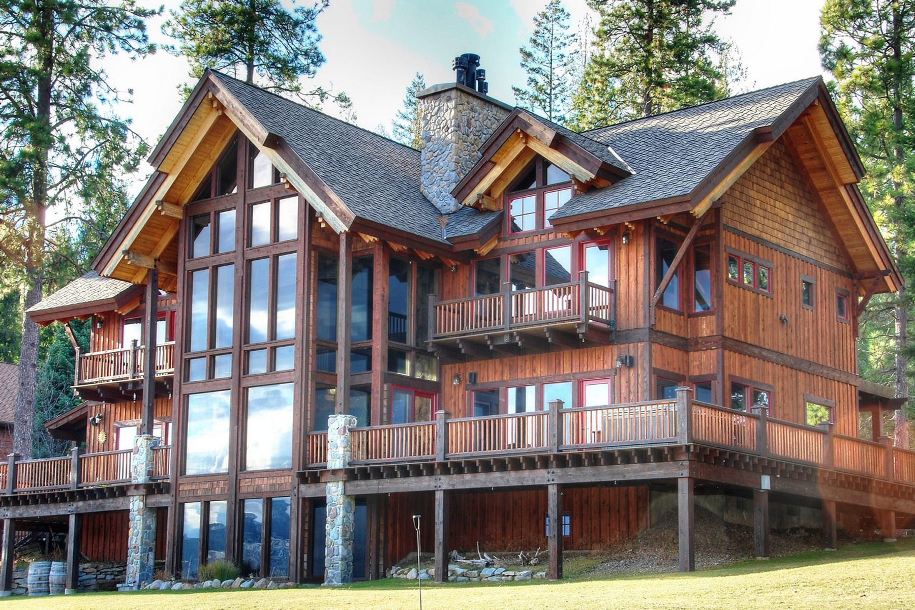 Single Family Home for Sale at Magnificent views of Lake Pend Oreille 107 Driftwood Shore Sagle, Idaho 83860 United States