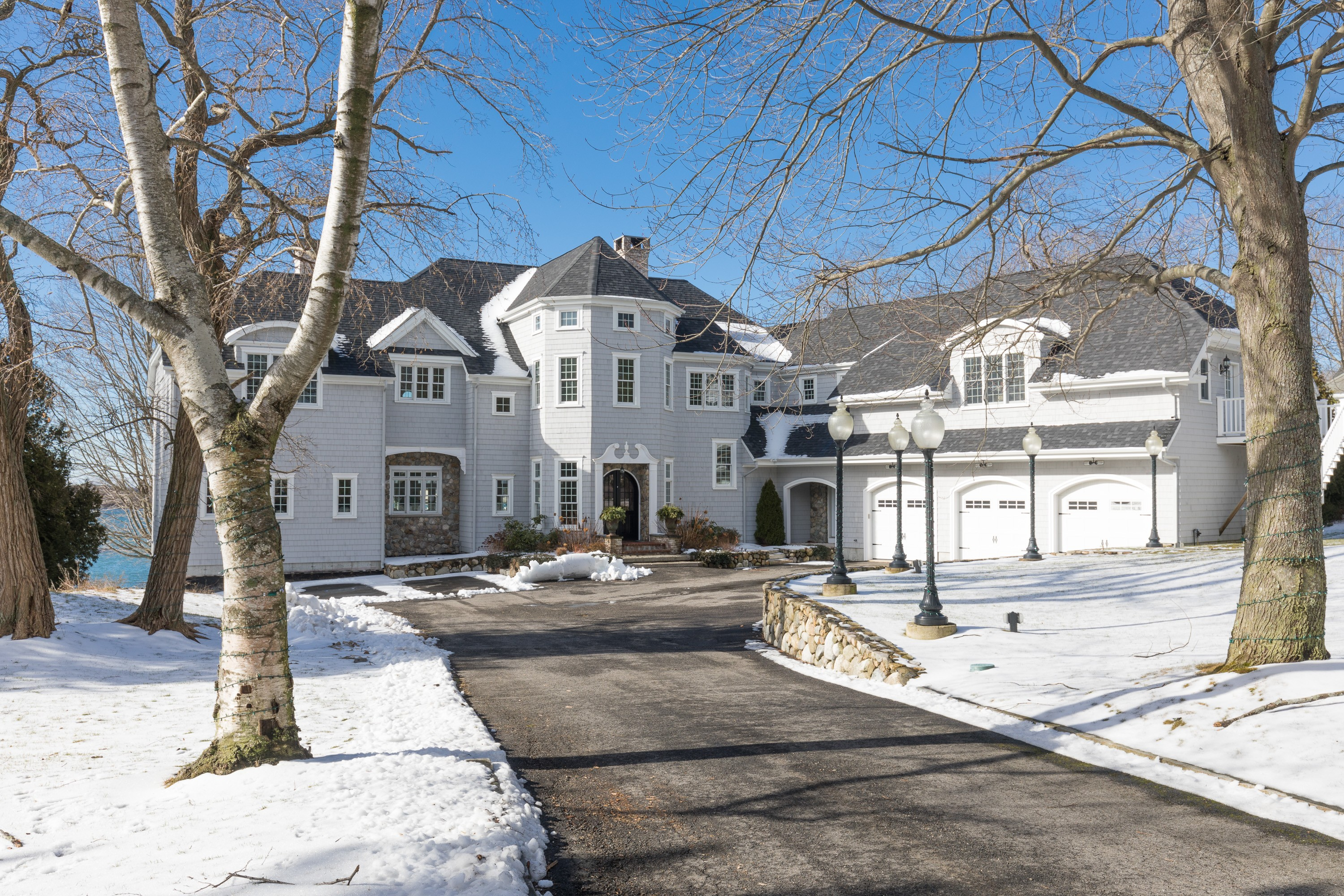 Single Family Home for Sale at Grand Oceanfront Home in Kittery Point 4 Lawrence Lane Kittery, Maine 03905 United States