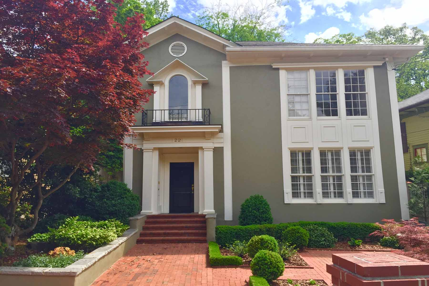 Single Family Home for Sale at Sophisicated Ansley Park home! 22 The Prado NE Ansley Park, Atlanta, Georgia, 30309 United States
