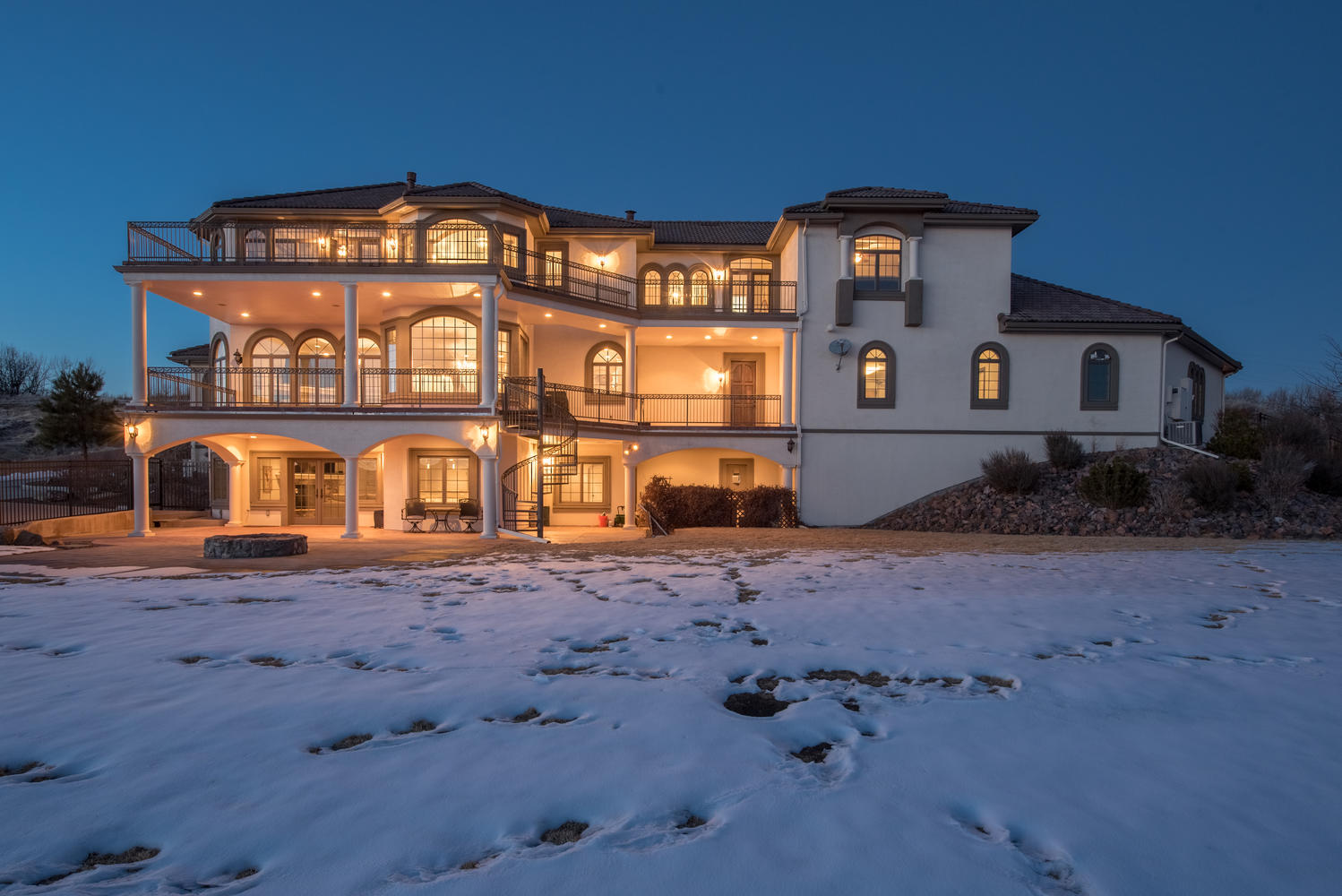sales property at Custom Estate Sits High Atop a Hill on Just Under Three Acres