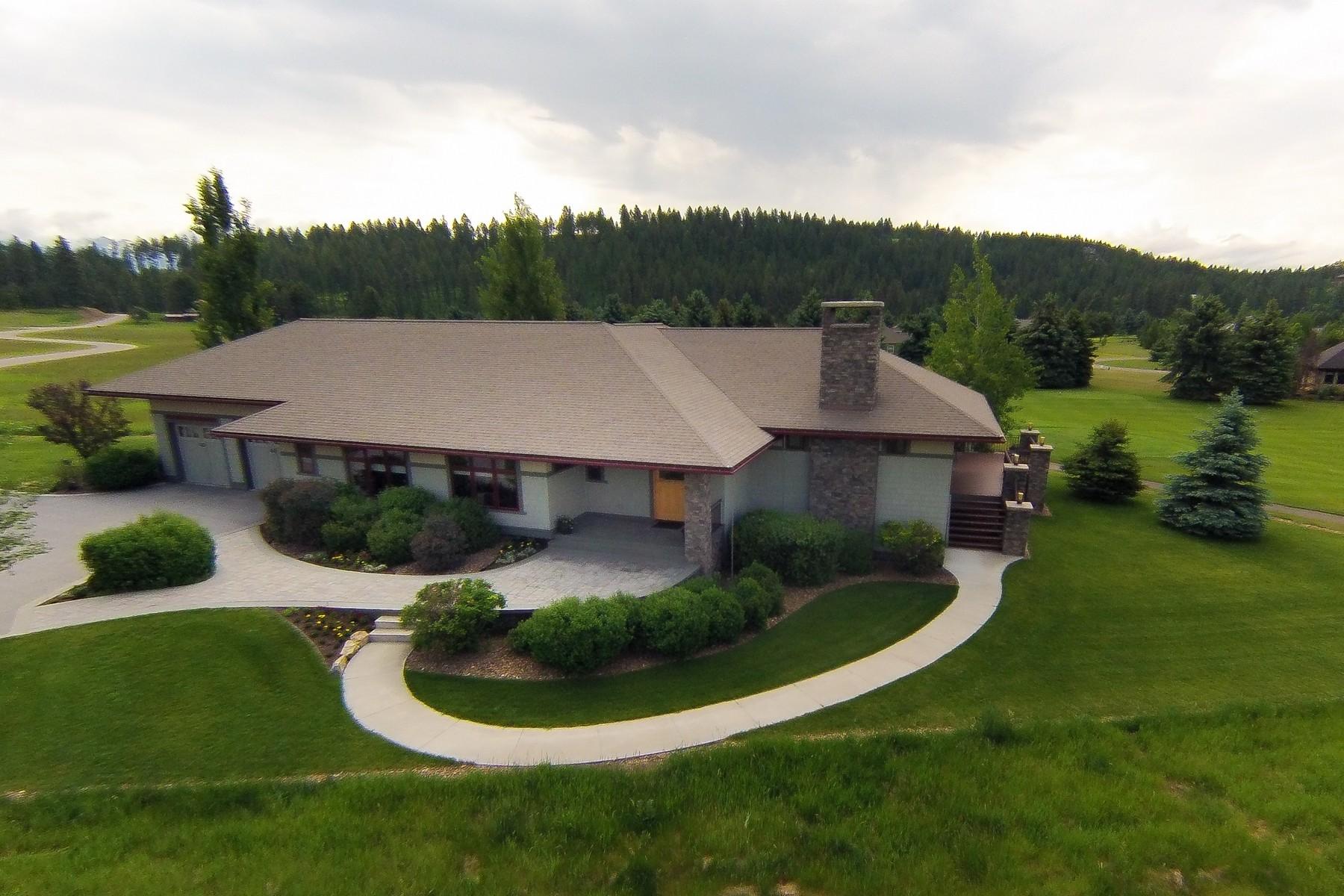단독 가정 주택 용 매매 에 Spectacular Gated Home 1382 Ponderosa Ridge Drive Bigfork, 몬타나, 59911 미국