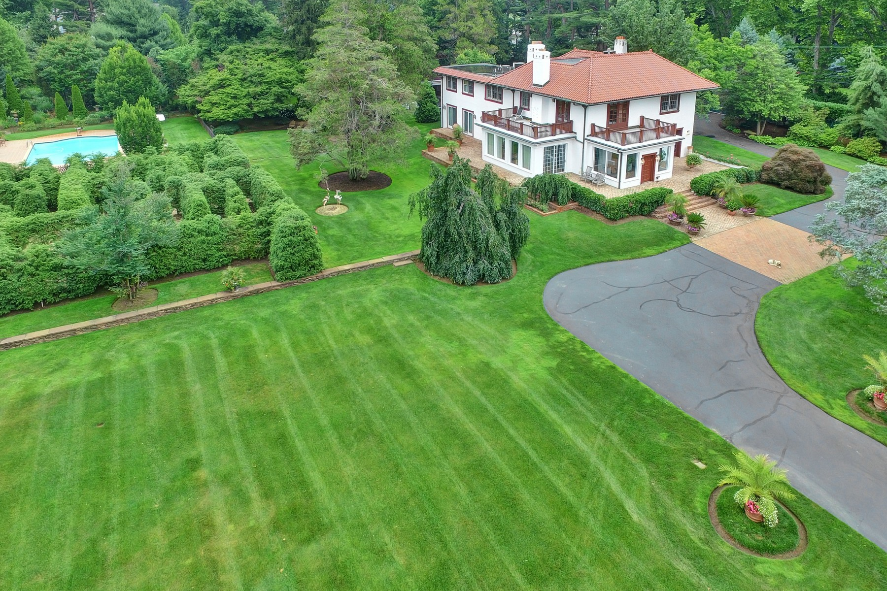 Single Family Home for Sale at Enchanting Mediterranean Style Estate 427 Navesink River Road Middletown, New Jersey 07748 United States