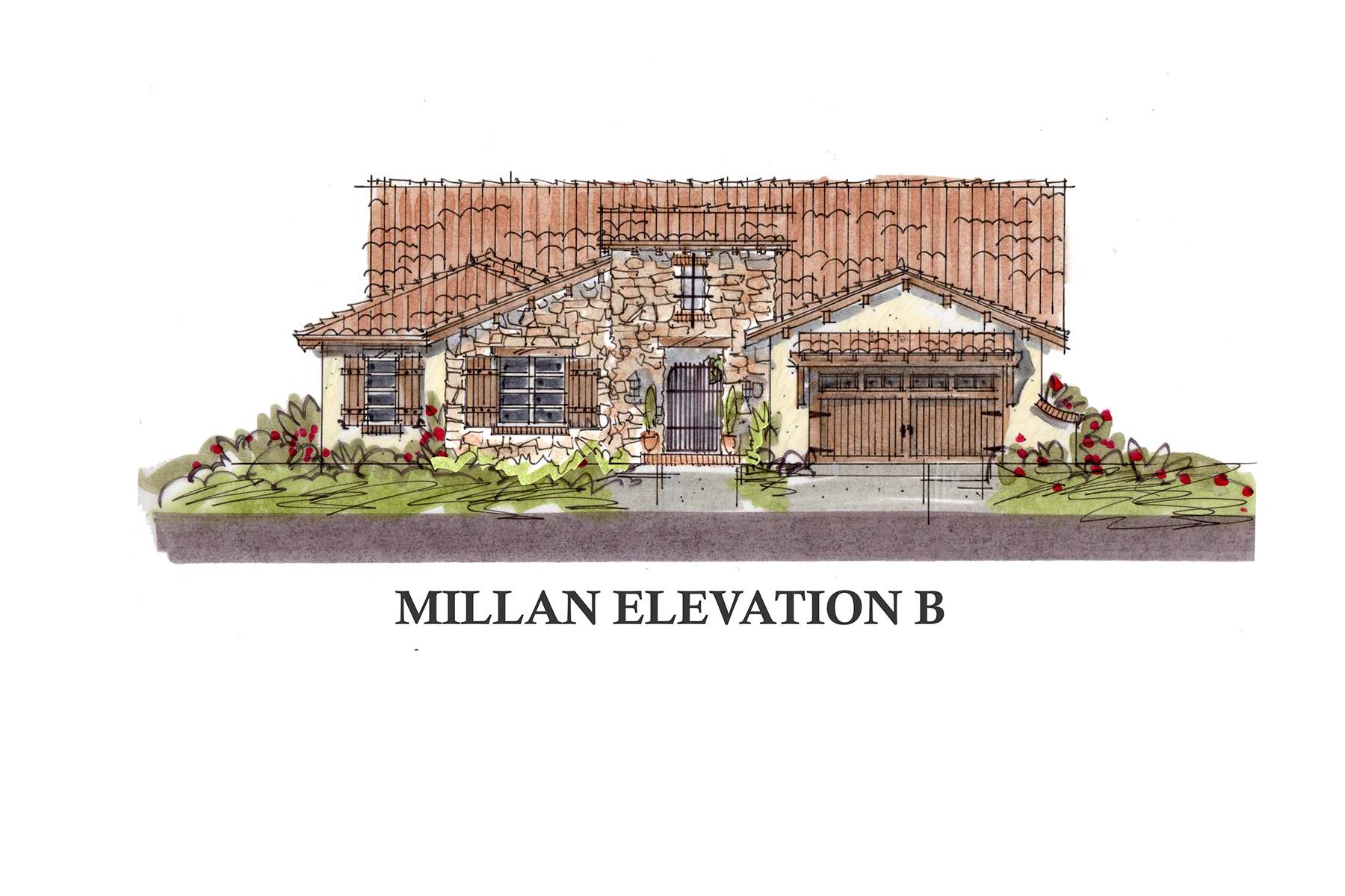 Property For Sale at New construction French Country architecture in the Ravenna