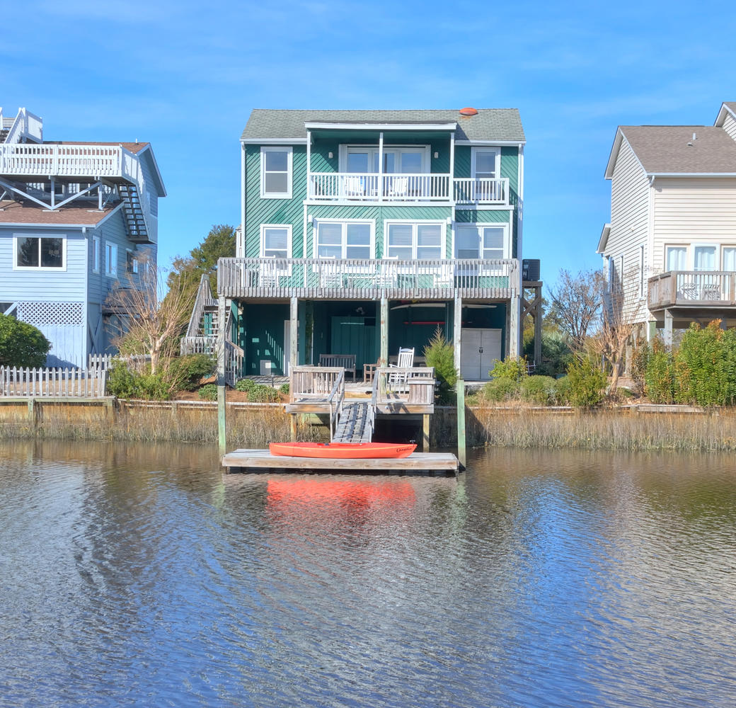 Single Family Home for Sale at Waterfront Home with Expansive Intracoastal Views 1419 Bay Street Sunset Beach, North Carolina, 28468 United States