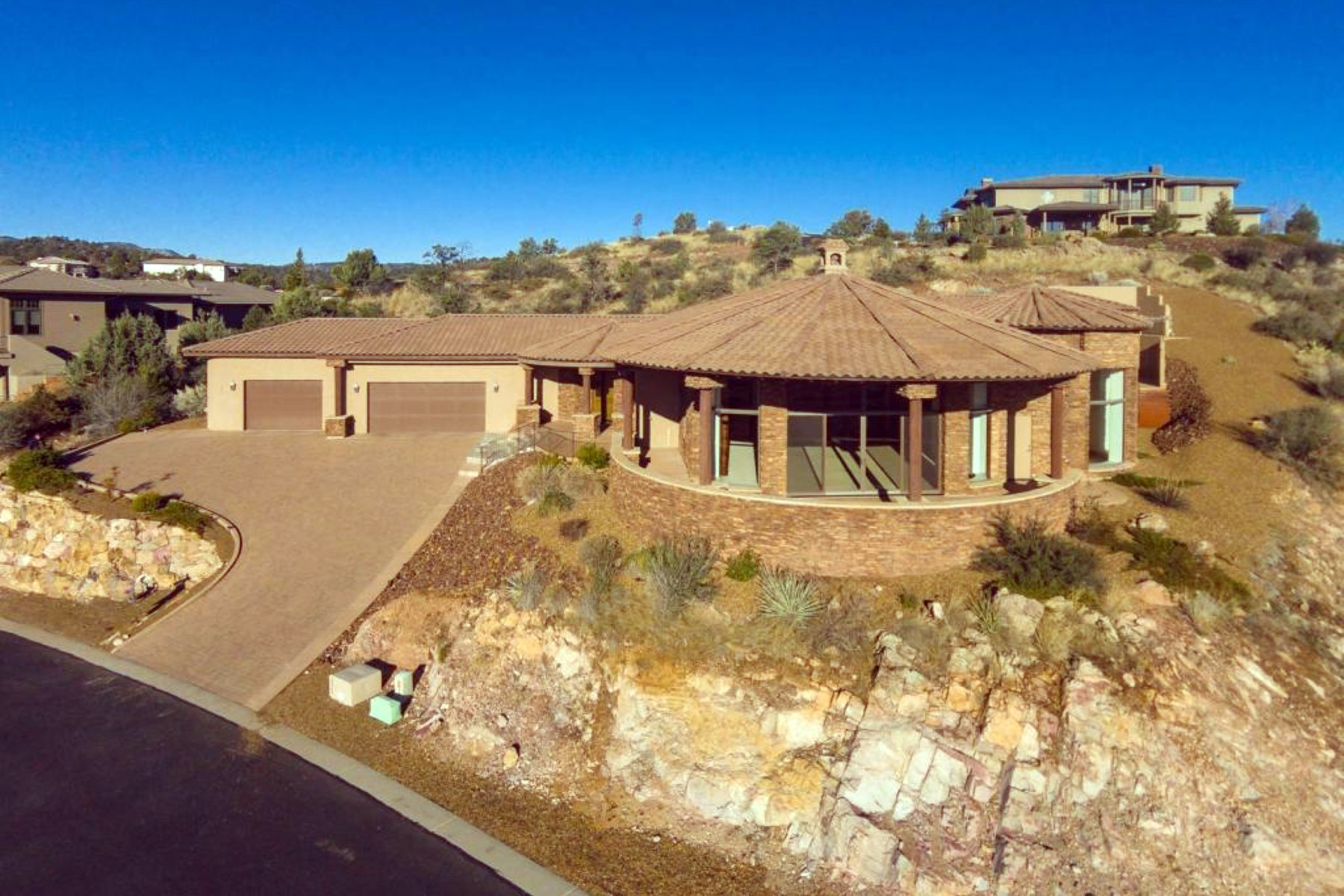 Single Family Home for Sale at Custom Prescott Home With Dramatic 180+ Degree Views 1434 Tallside Prescott, Arizona 86305 United States