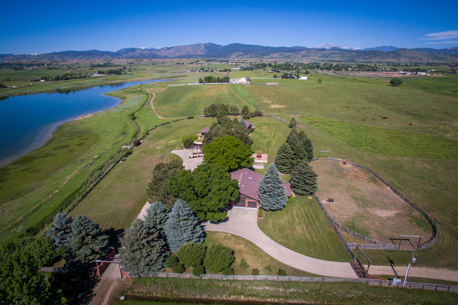 Farm / Ranch / Plantation for Sale at 163 Acre Waterfront County Estate 10135 N 75th St Longmont, Colorado, 80503 United States