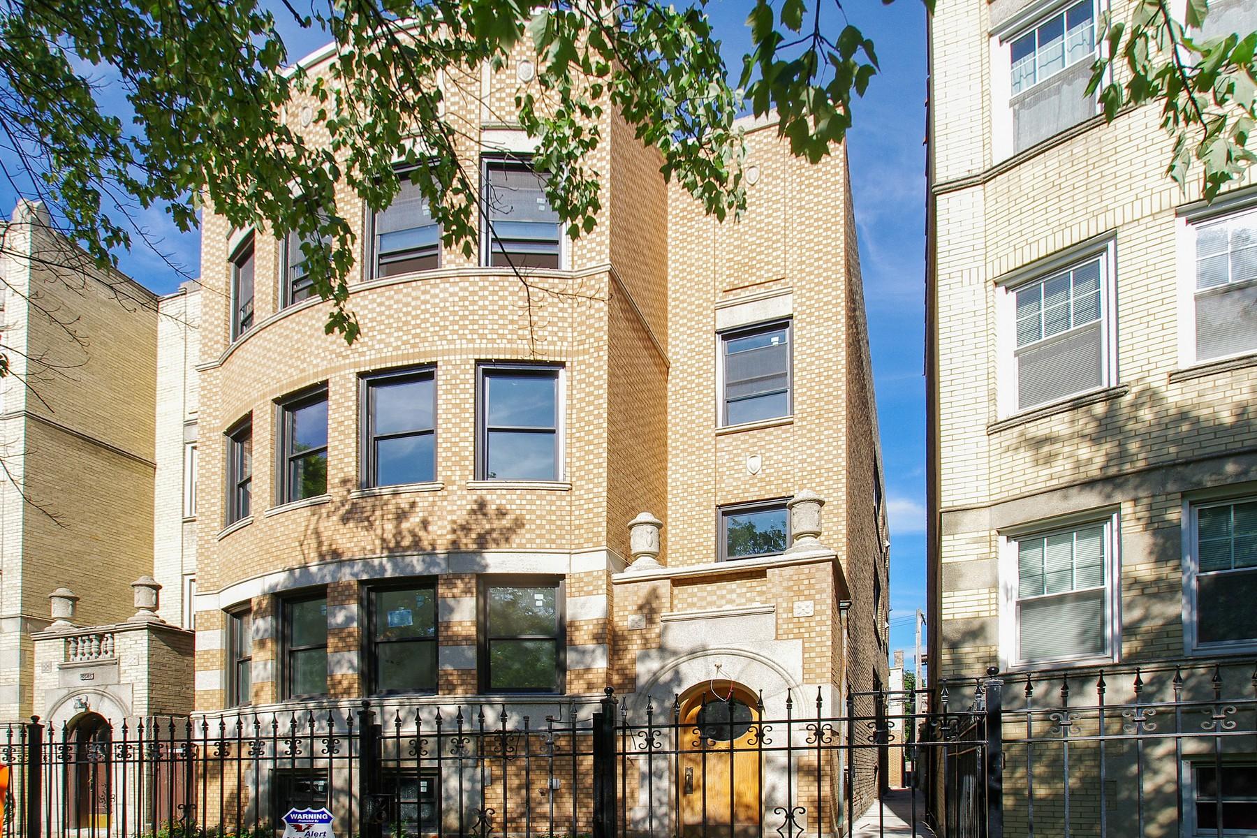 Maison multifamiliale pour l Vente à All New Units in Brick 3-Flat 5639 N Christiana Avenue Chicago, Illinois, 60659 États-Unis