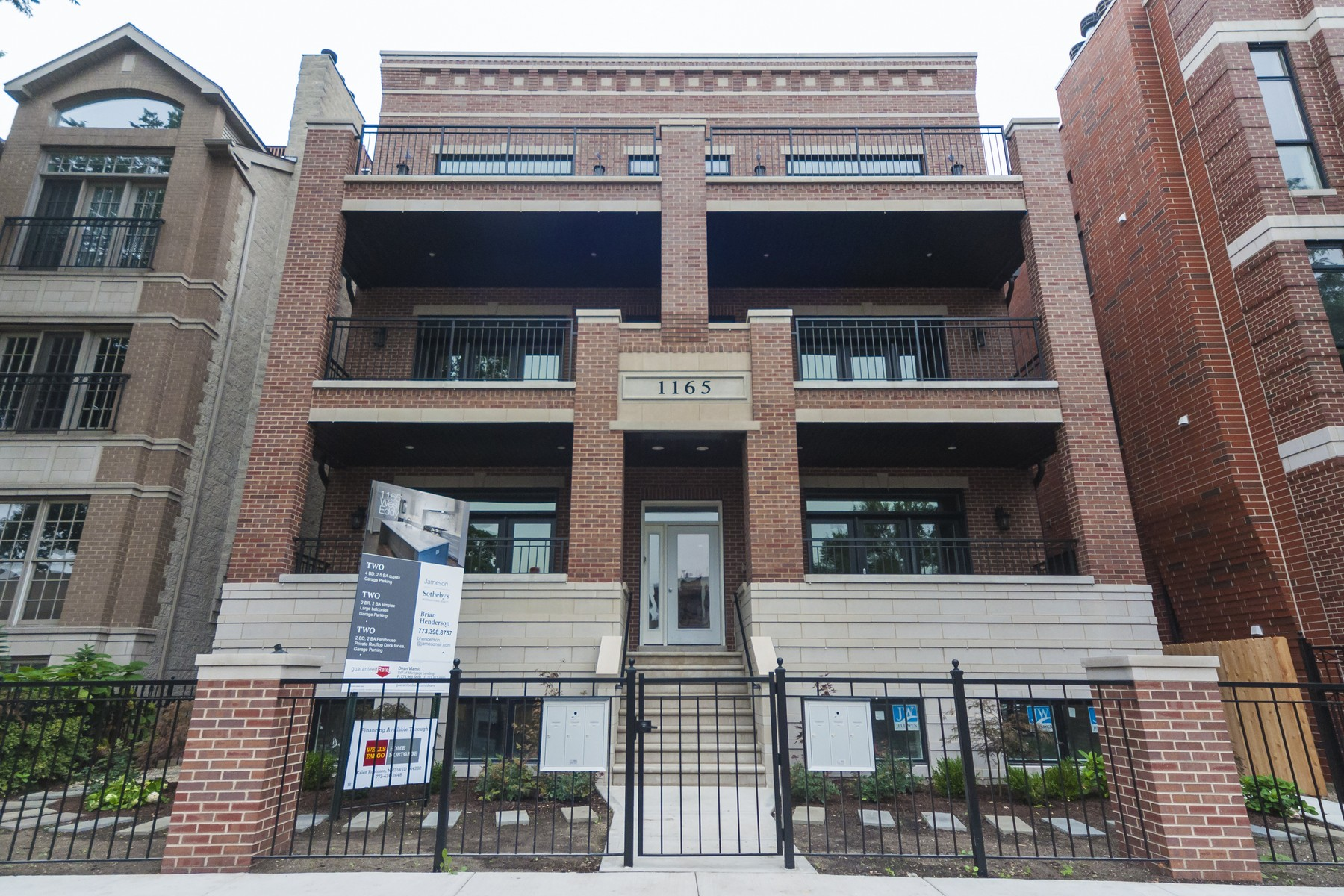 Duplex for Sale at Elegant All Brick New Construction Condo 1165 W Eddy Street Unit 1W Lakeview, Chicago, Illinois 60657 United States