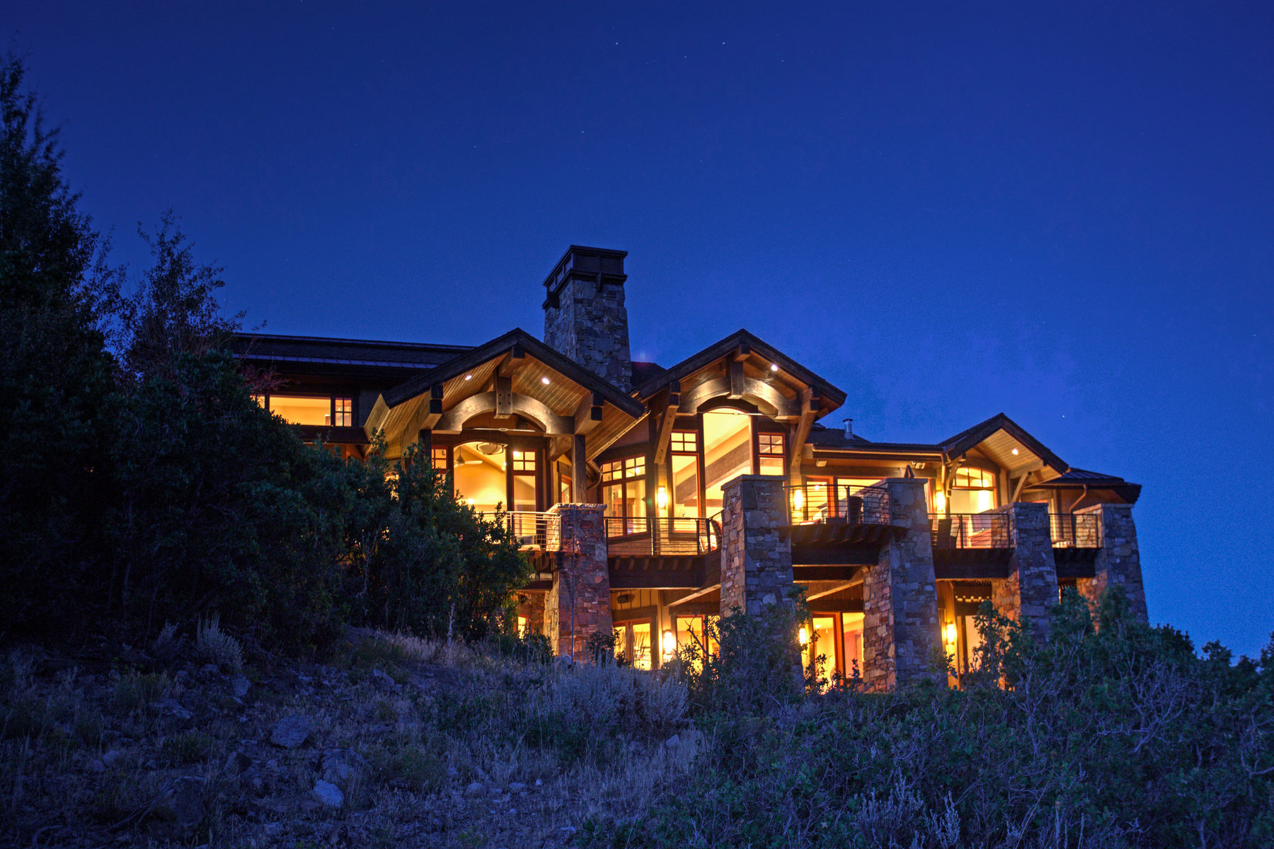 Single Family Home for Sale at Warm Mountain Contemporary Manor - Upwall Showpiece! 7982 N Sunrise Loop Park City, Utah, 84098 United States