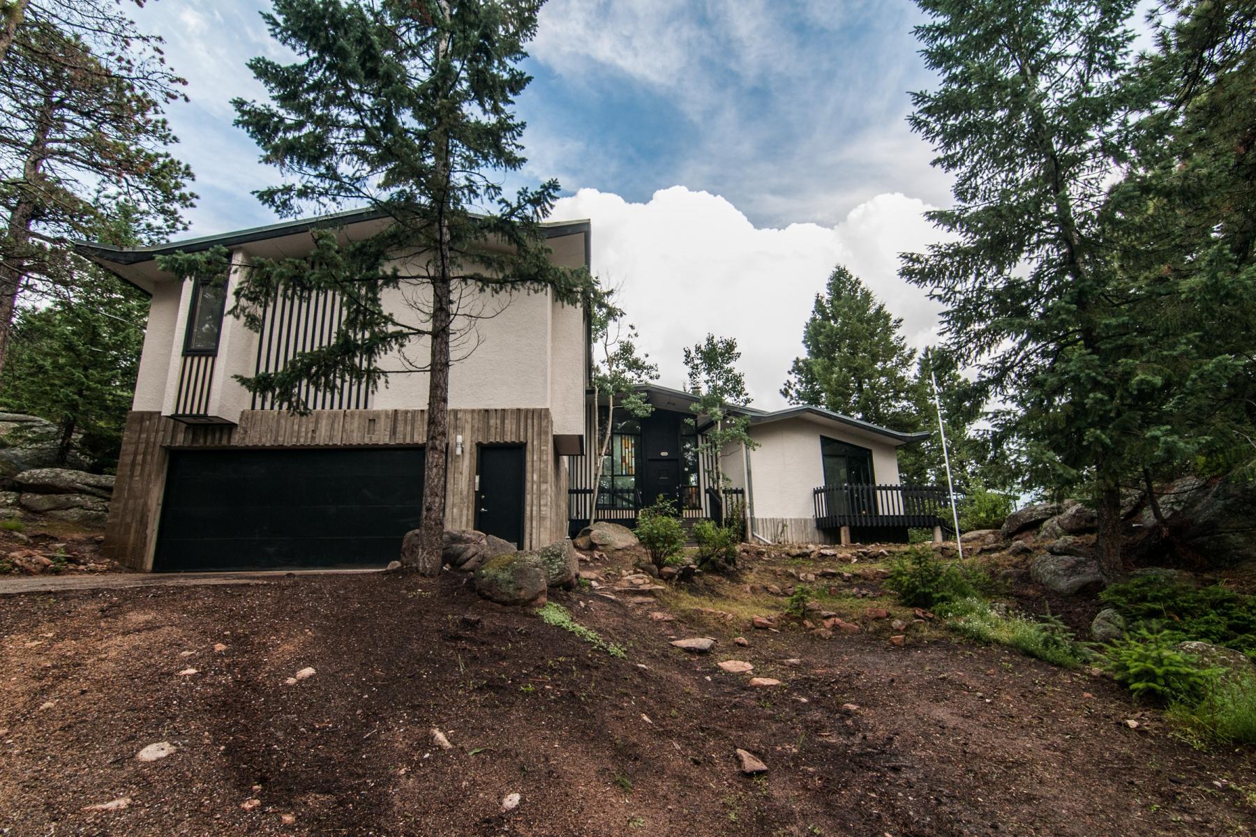Частный односемейный дом для того Продажа на Unique Mid-Century Modern Retreat 33352 Lynx Lane Evergreen, Колорадо 80439 Соединенные Штаты