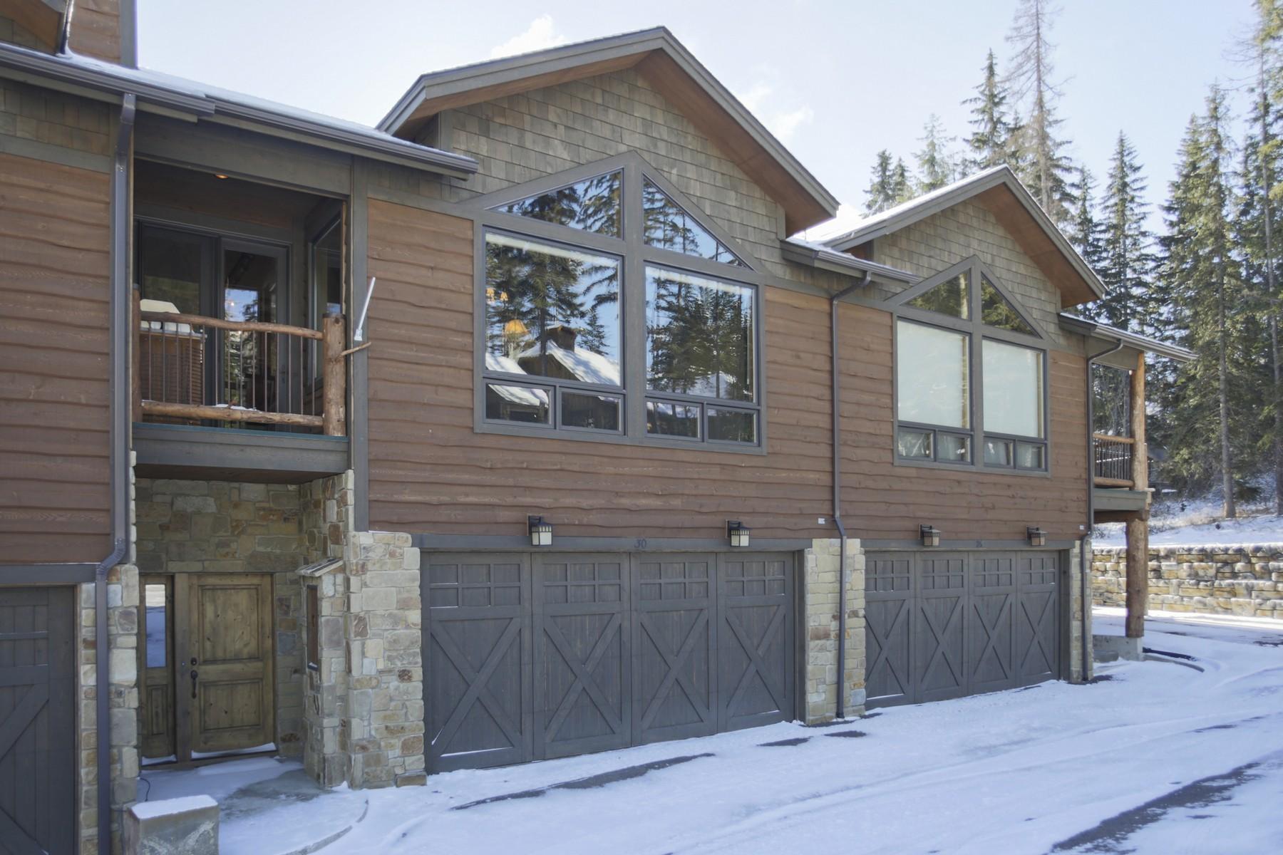 Casa Unifamiliar Adosada por un Venta en Moose Run Townhome 30 Moose Jaw Trail Whitefish, Montana 59937 Estados Unidos