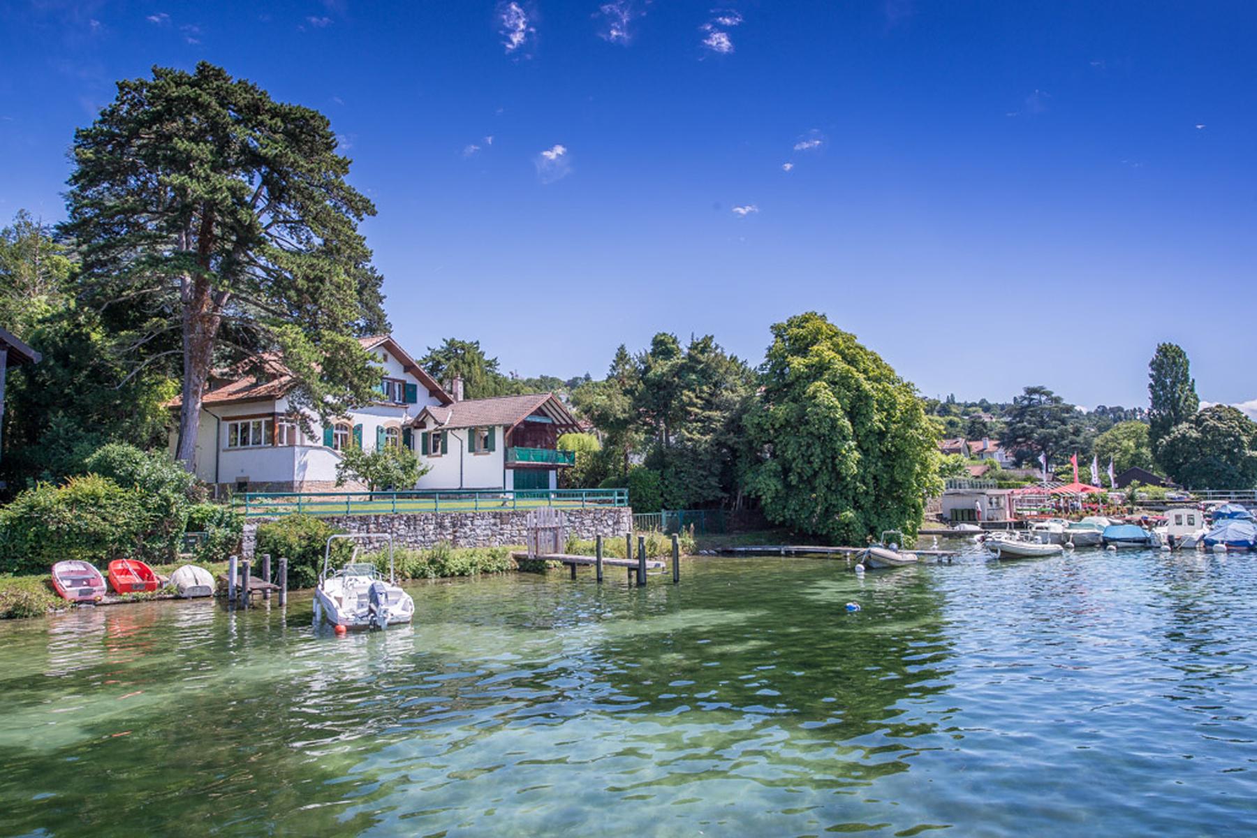 Einfamilienhaus für Verkauf beim Waterfront property in Cologny Cologny, Genf Schweiz
