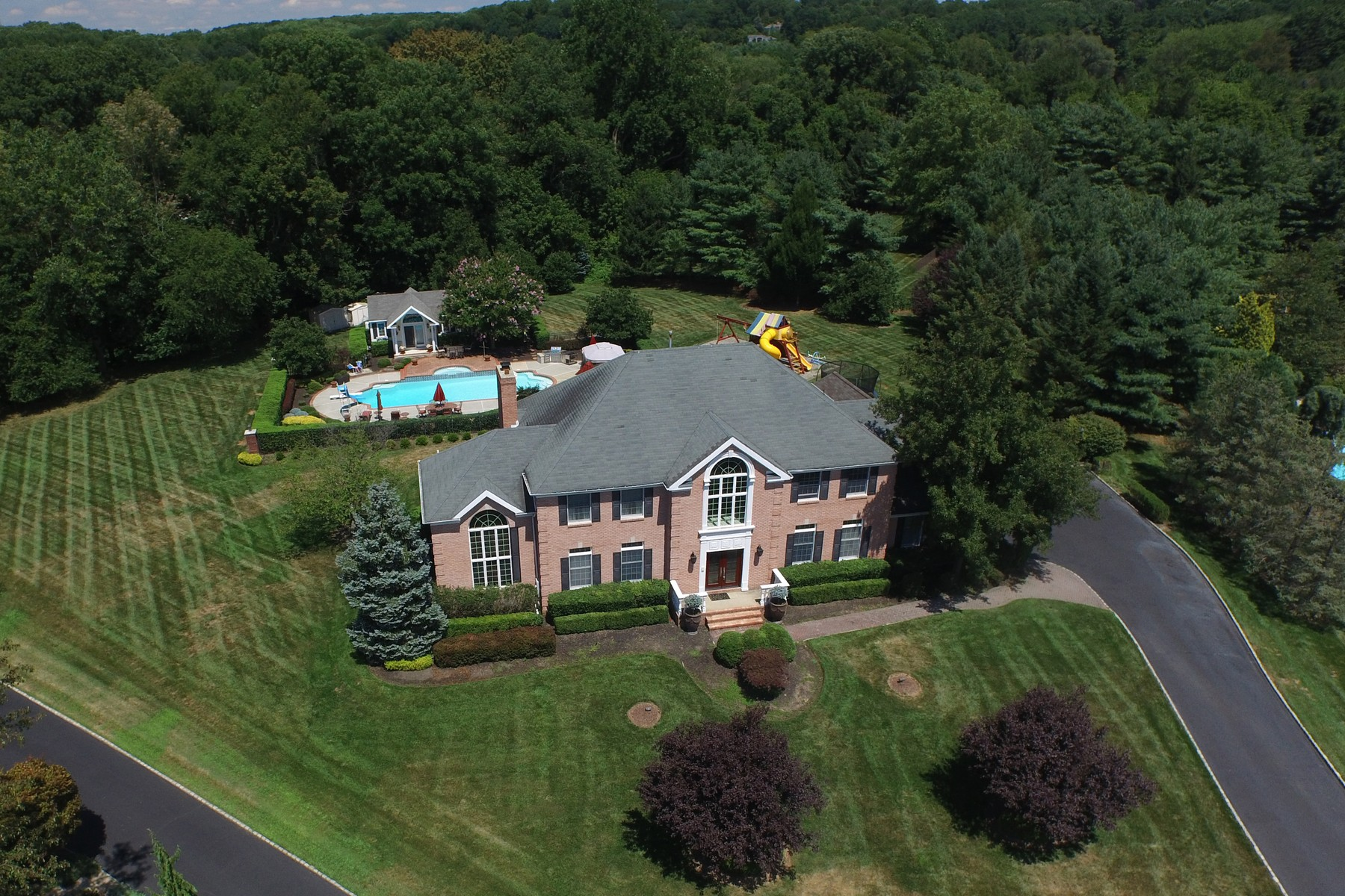 Property For Sale at Prestigious Brick Front Colonial