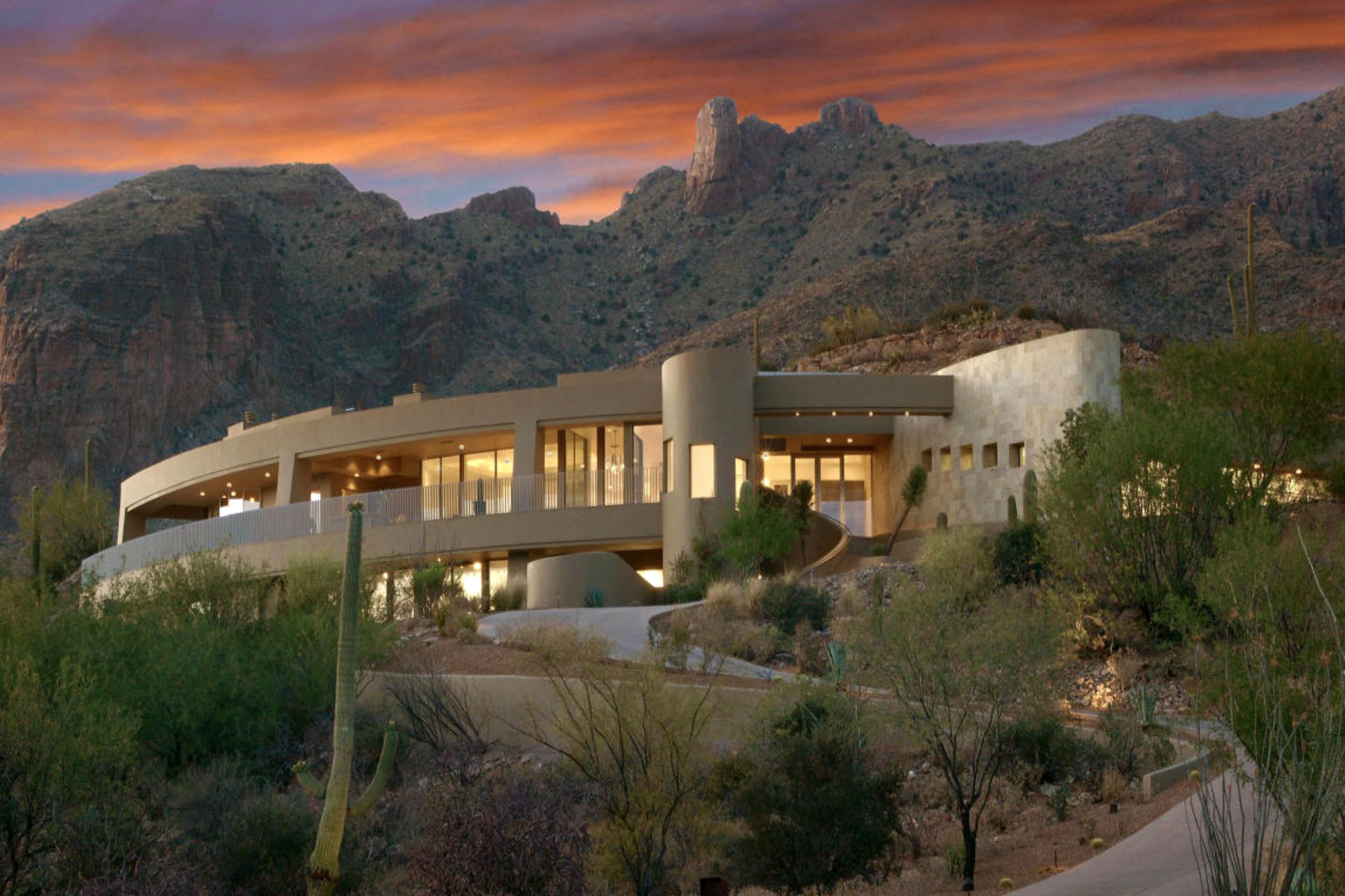 단독 가정 주택 용 매매 에 Visually Stunning Contemporary Masterpiece with Spectacular Views 7164 N Mercer Spring Tucson, 아리조나 85718 미국