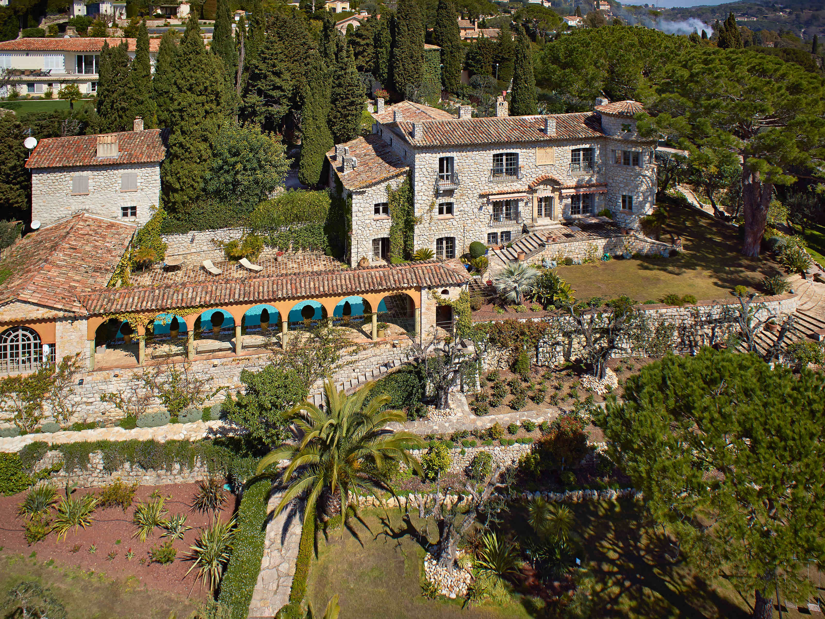 단독 가정 주택 용 매매 에 Beautiful luxurious property in Mougins with sea views on French Riviera Mougins, 프로벤스 앞ㄹ프스 코테 D'Azur 06250 프랑스
