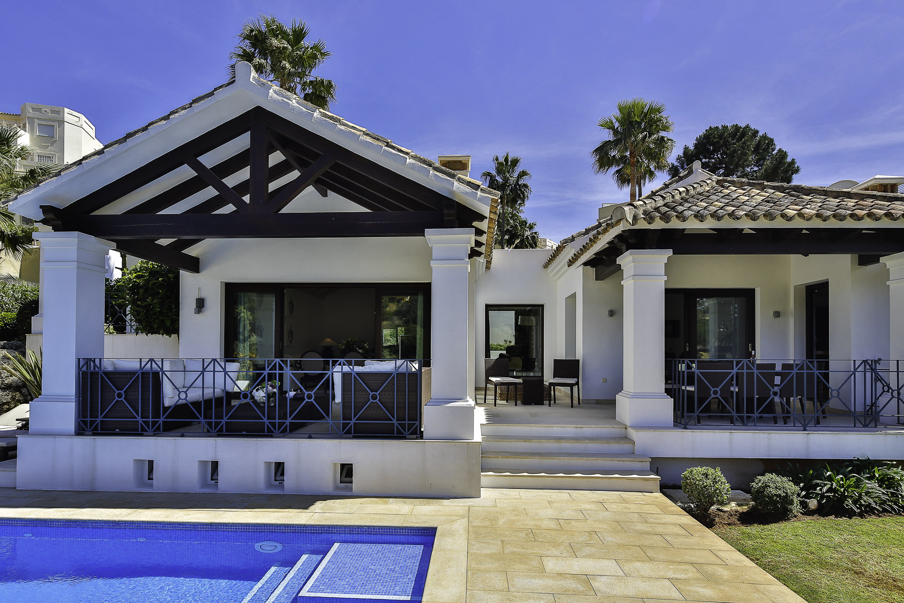 Single Family Home for Sale at Magnificent elegant eclectic style villa, situated front line golf in the presti Marbella, Andalucia, Spain