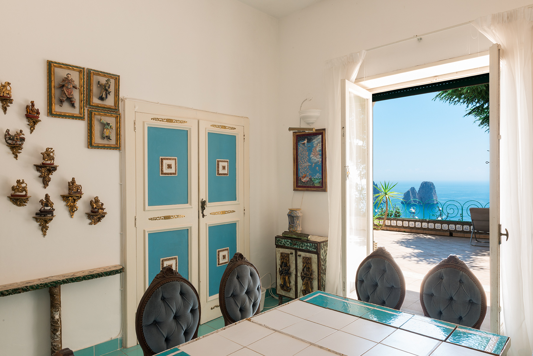 Additional photo for property listing at Charming panoramic villa Capri, Naples Italia