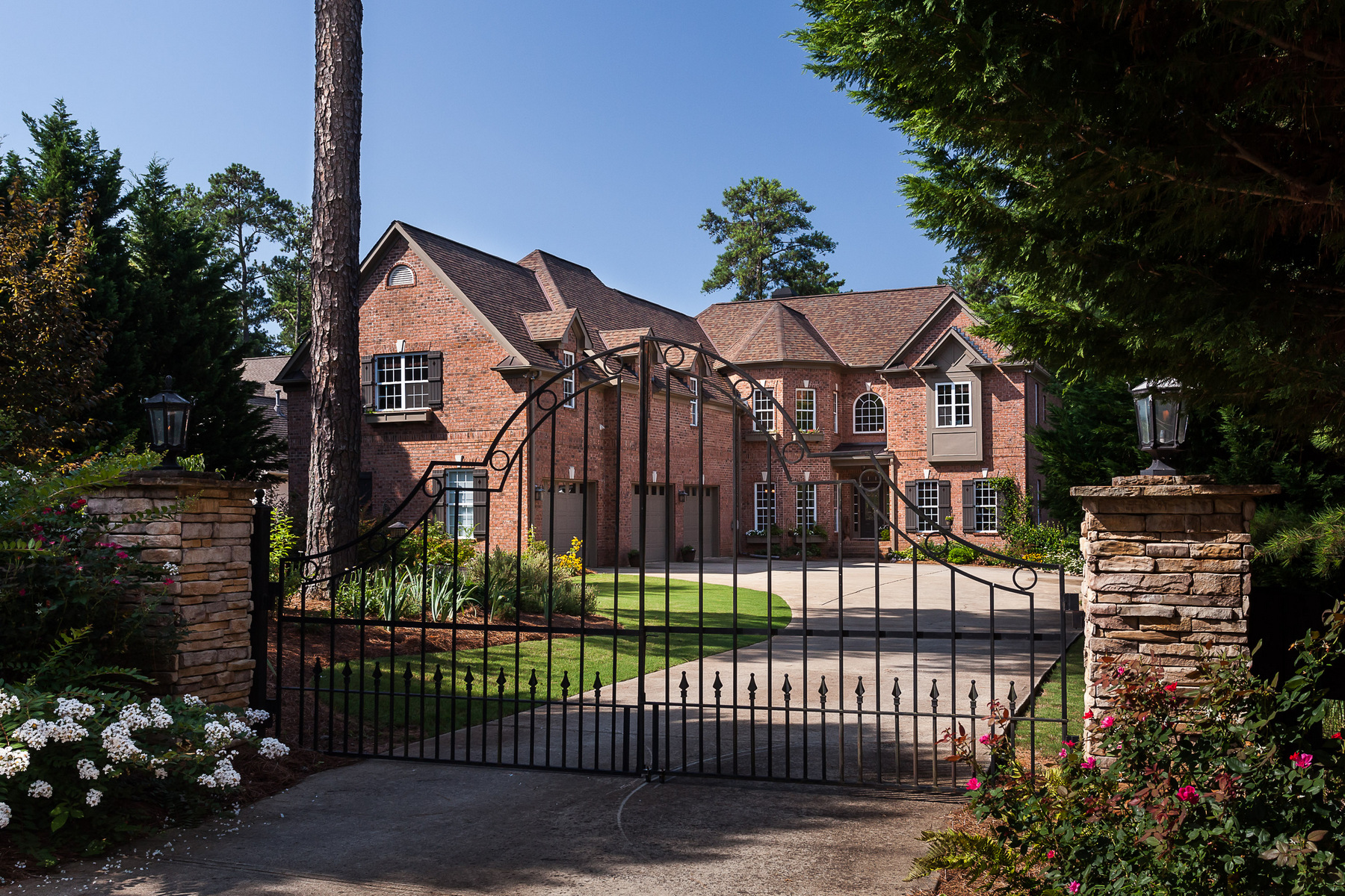 Single Family Home for Sale at Private Gated Home Situated off Sought After Bagley Road 2468 Bagley Road Cumming, Georgia 30041 United States