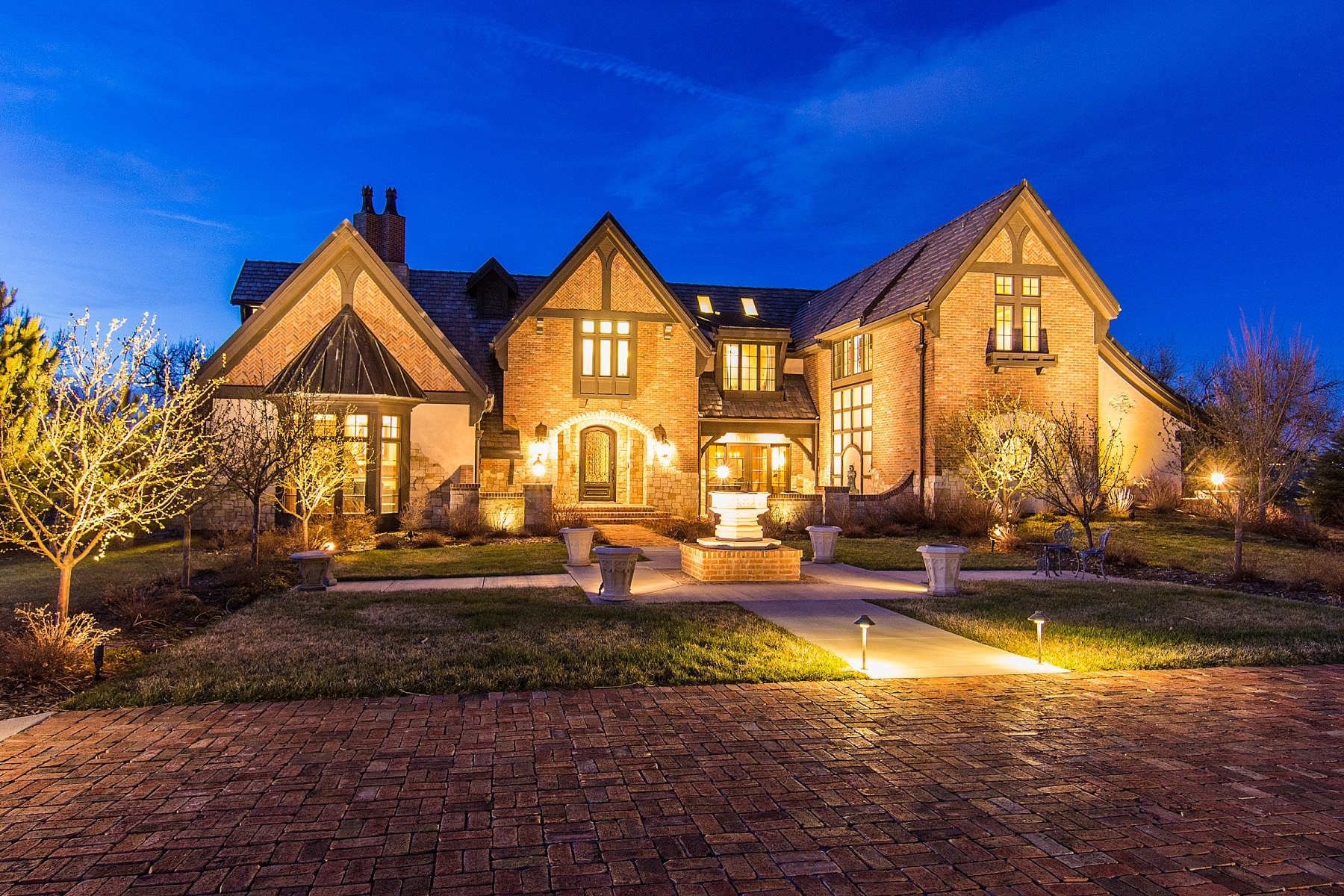 Single Family Home for Active at Magnificent English Tudor with brilliant architecture backing to Highline Canal 4251 Preserve Parkway North Greenwood Village, Colorado 80121 United States