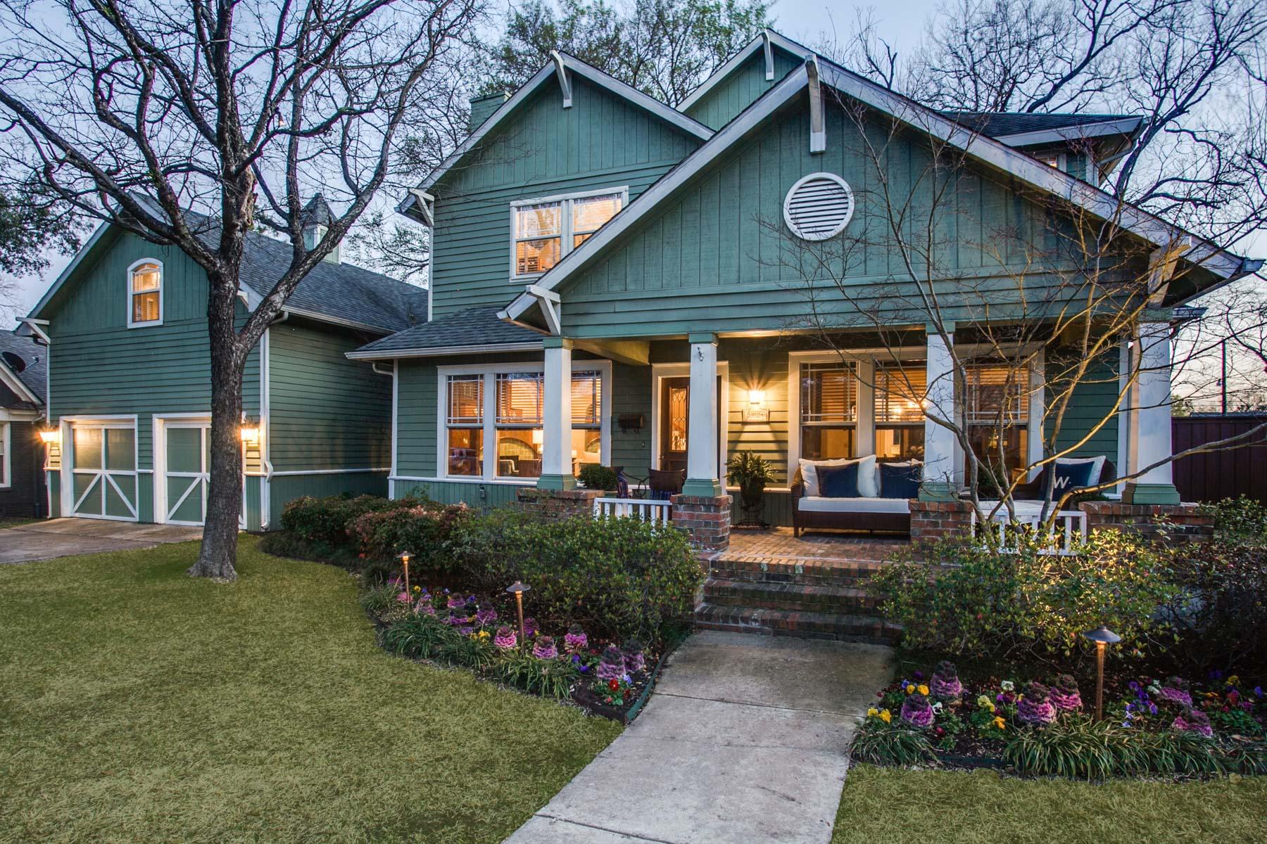 단독 가정 주택 용 매매 에 M Streets Craftsman Charmer 5824 Marquita Avenue Dallas, 텍사스, 75206 미국