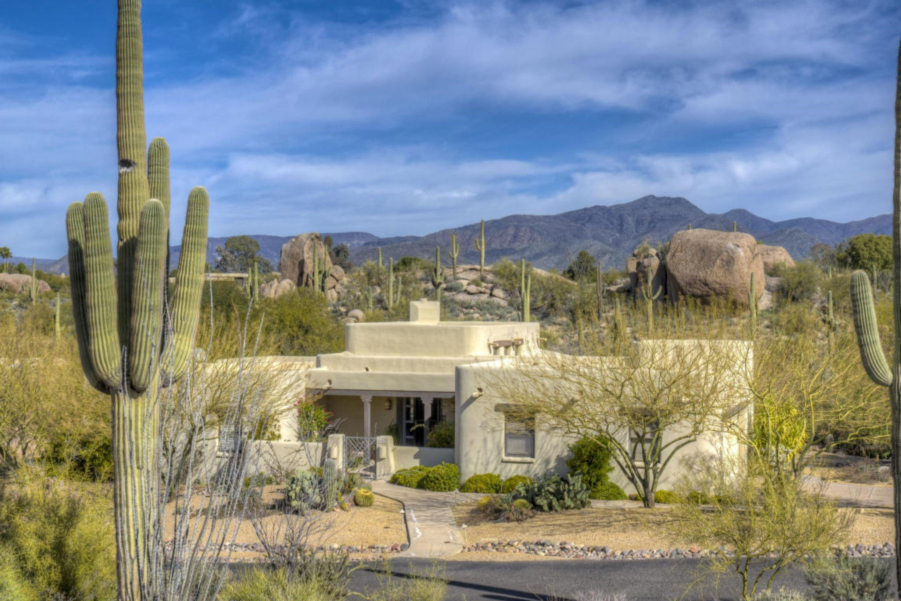 Property For Sale at Santa Fe Style exterior architecture-On beautiful joining acres