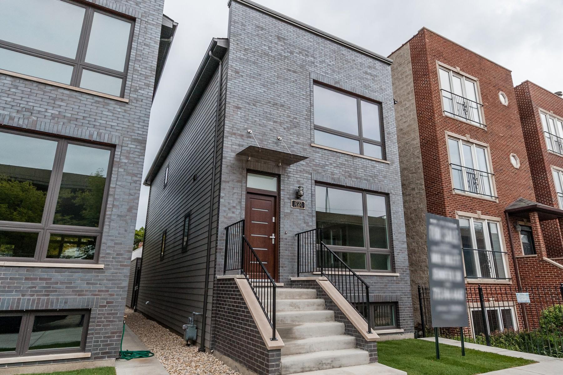Casa para uma família para Venda às Brand New Est Pilsen Home 1727 S Ruble Street Chicago, Illinois, 60616 Estados Unidos