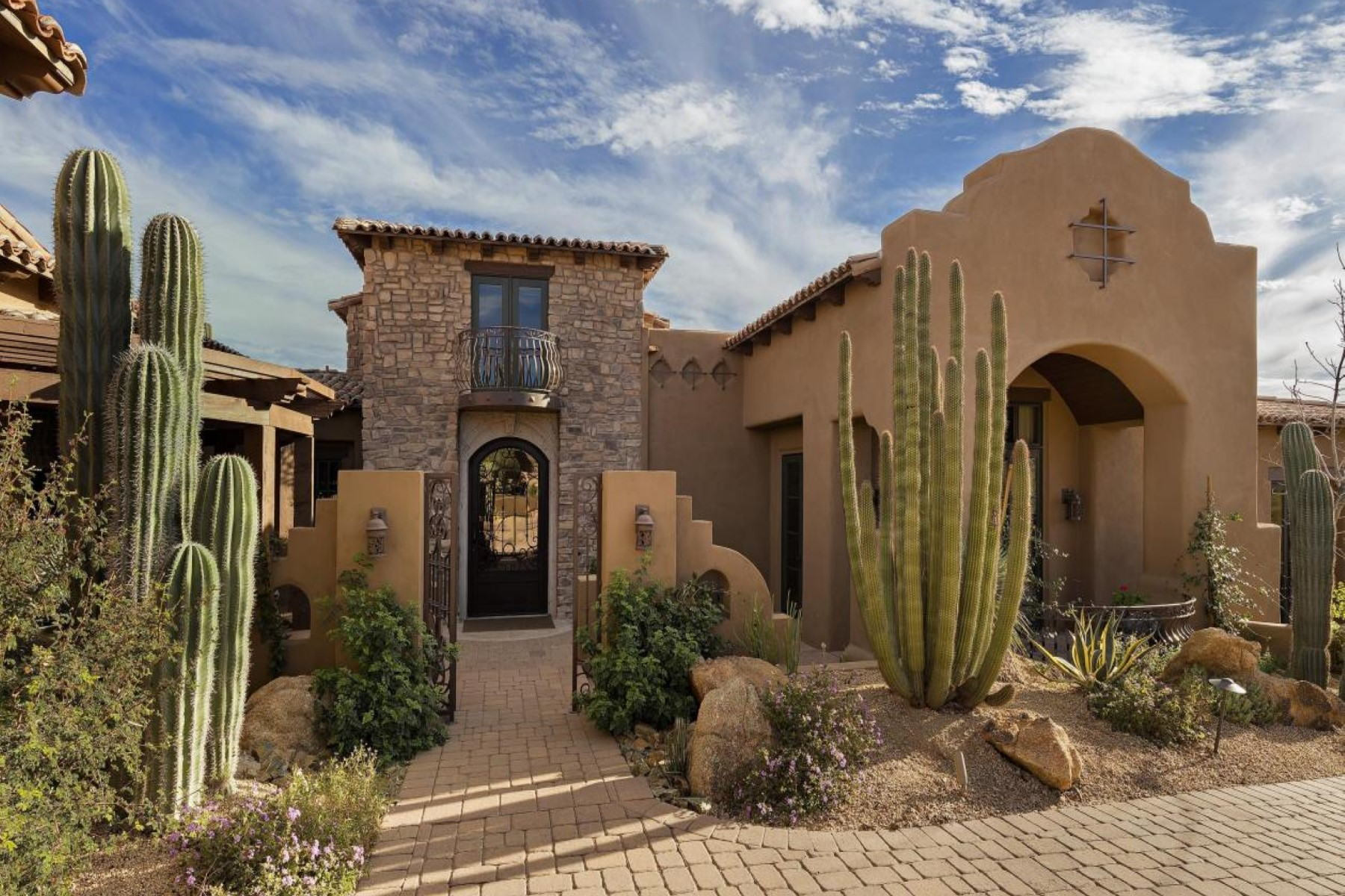 sales property at Elegant Old World Estate on ridge in exclusive Desert Mountain Club