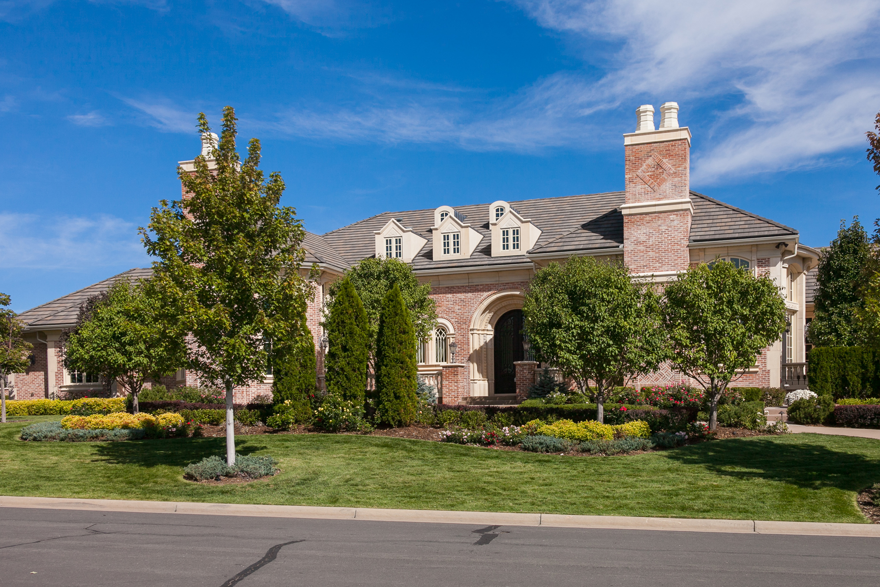 Single Family Home for Active at Stately and sophisticated brick ranch masterpiece 4060 E. Chestnut Court Greenwood Village, Colorado 80121 United States