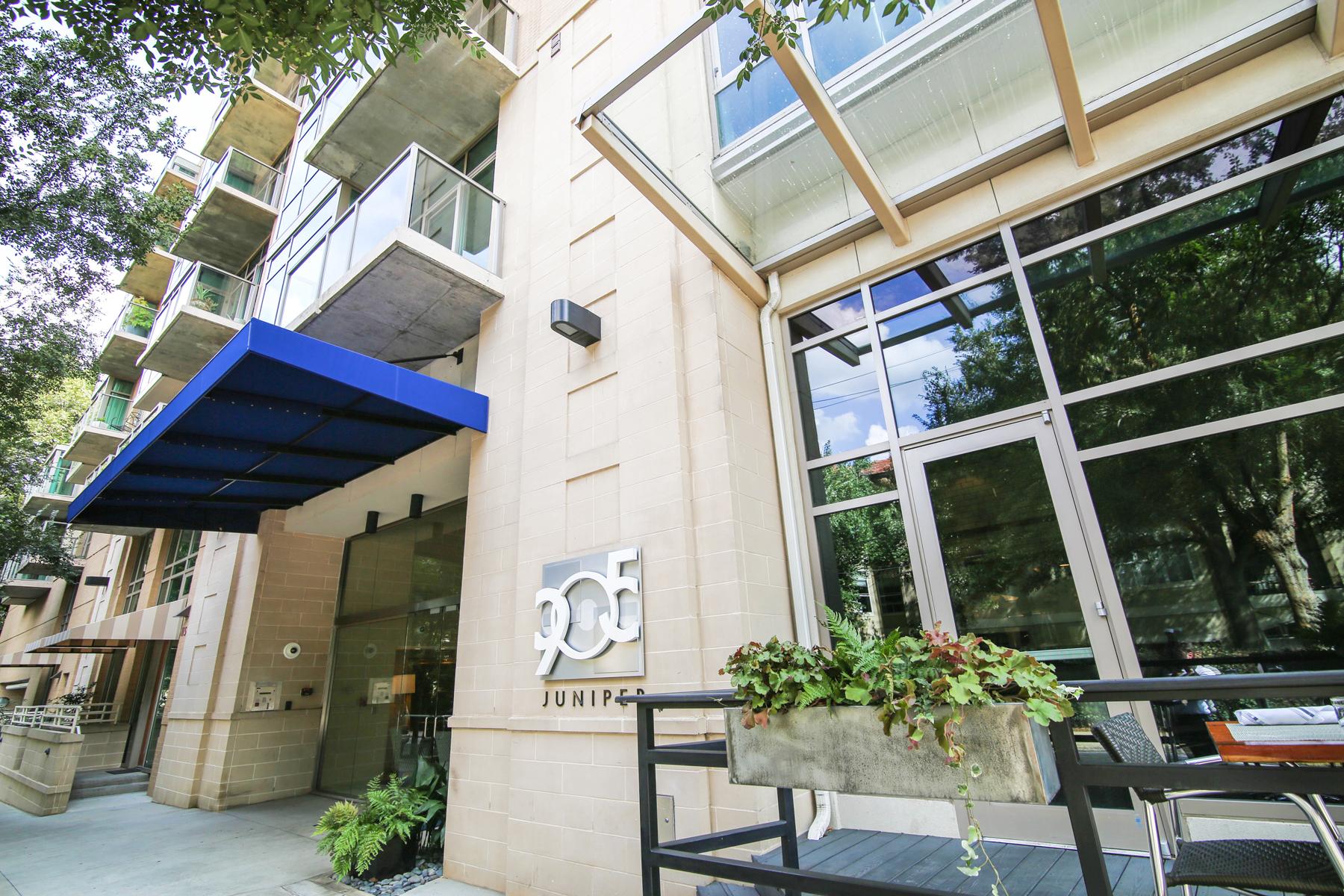 콘도미니엄 용 매매 에 Exclusive Three Story Condo With Street Access, Two Parking Spaces And Storage 905 Juniper Street #117 Atlanta, 조지아 30309 미국