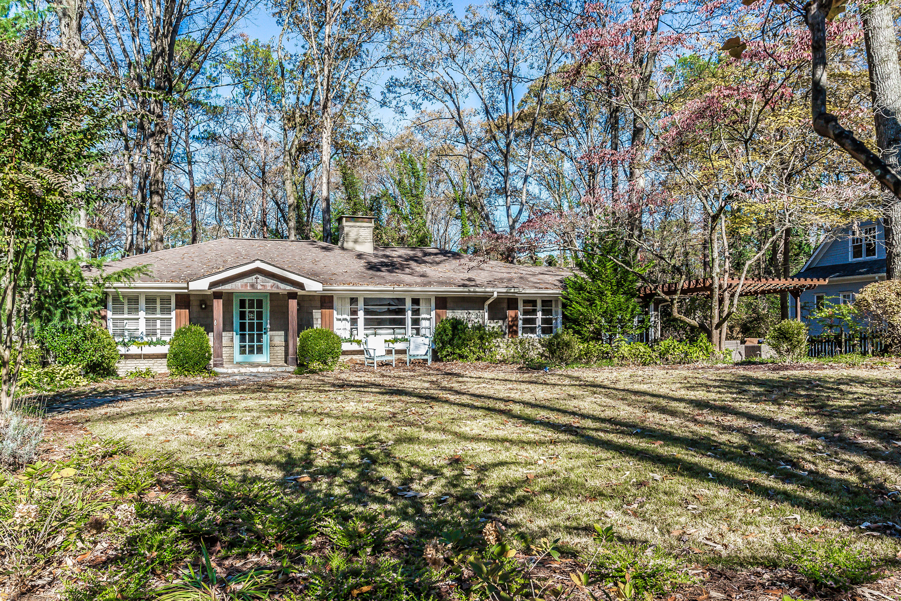 Single Family Home for Sale at Charming Home On One Acre In Sought After Chastain 487 Bryn Mawr Lane NW Chastain Park, Atlanta, Georgia 30327 United States