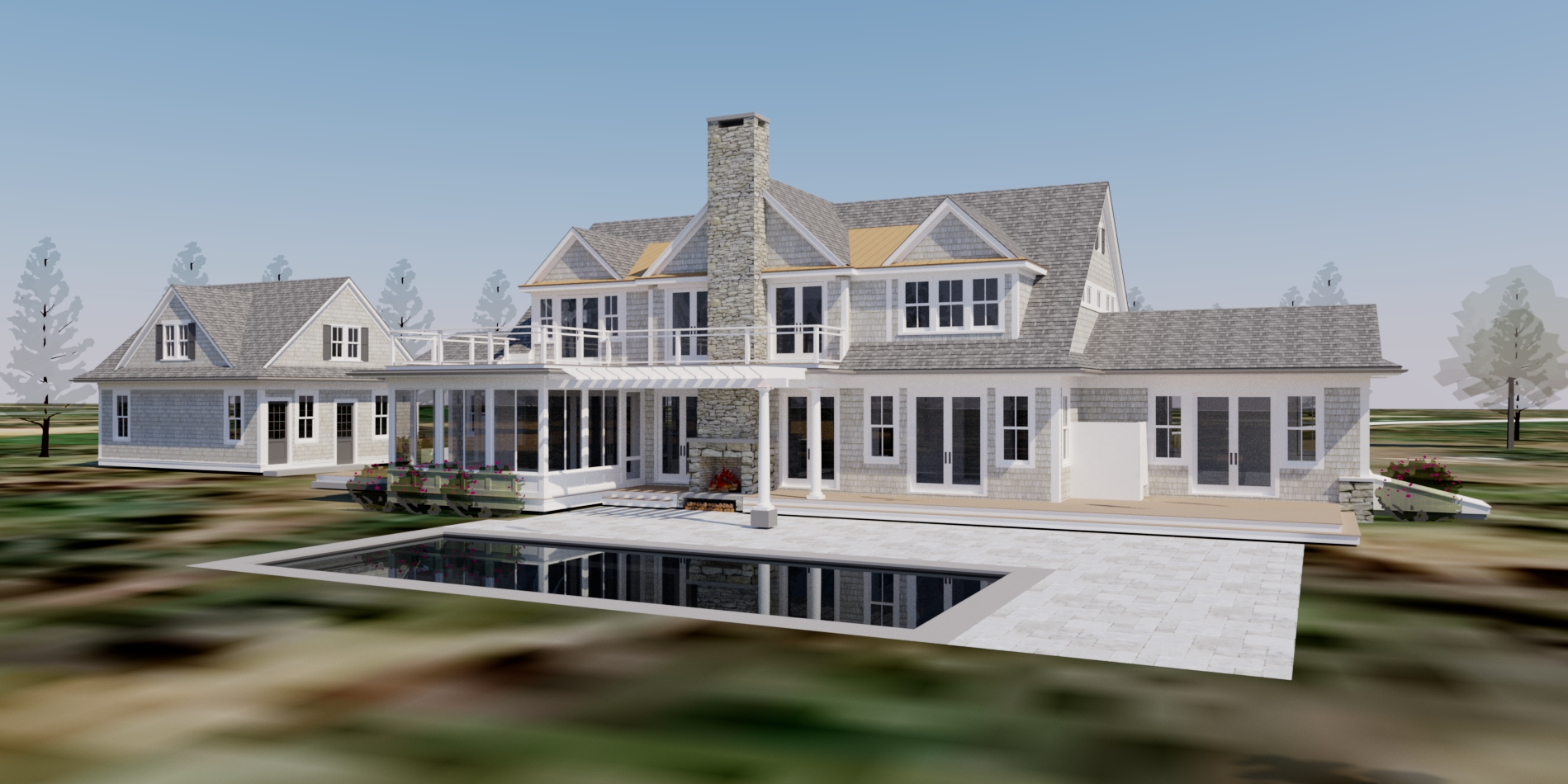Single Family Home for Sale at Martha's Vineyard New Construction 28 West Street Edgartown, Massachusetts, 02539 United States